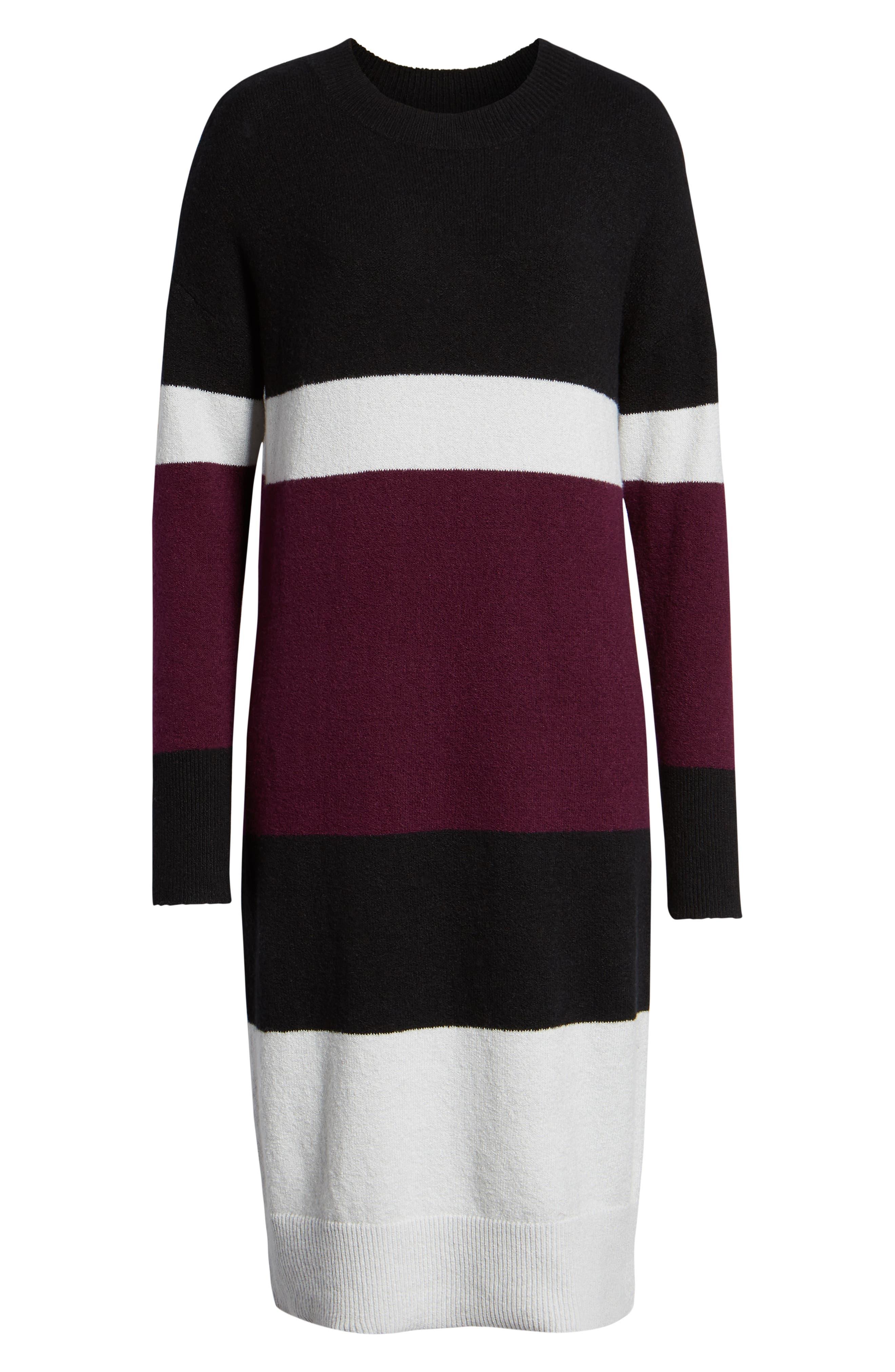 Stripe Sweater Dress,                             Alternate thumbnail 7, color,                             510
