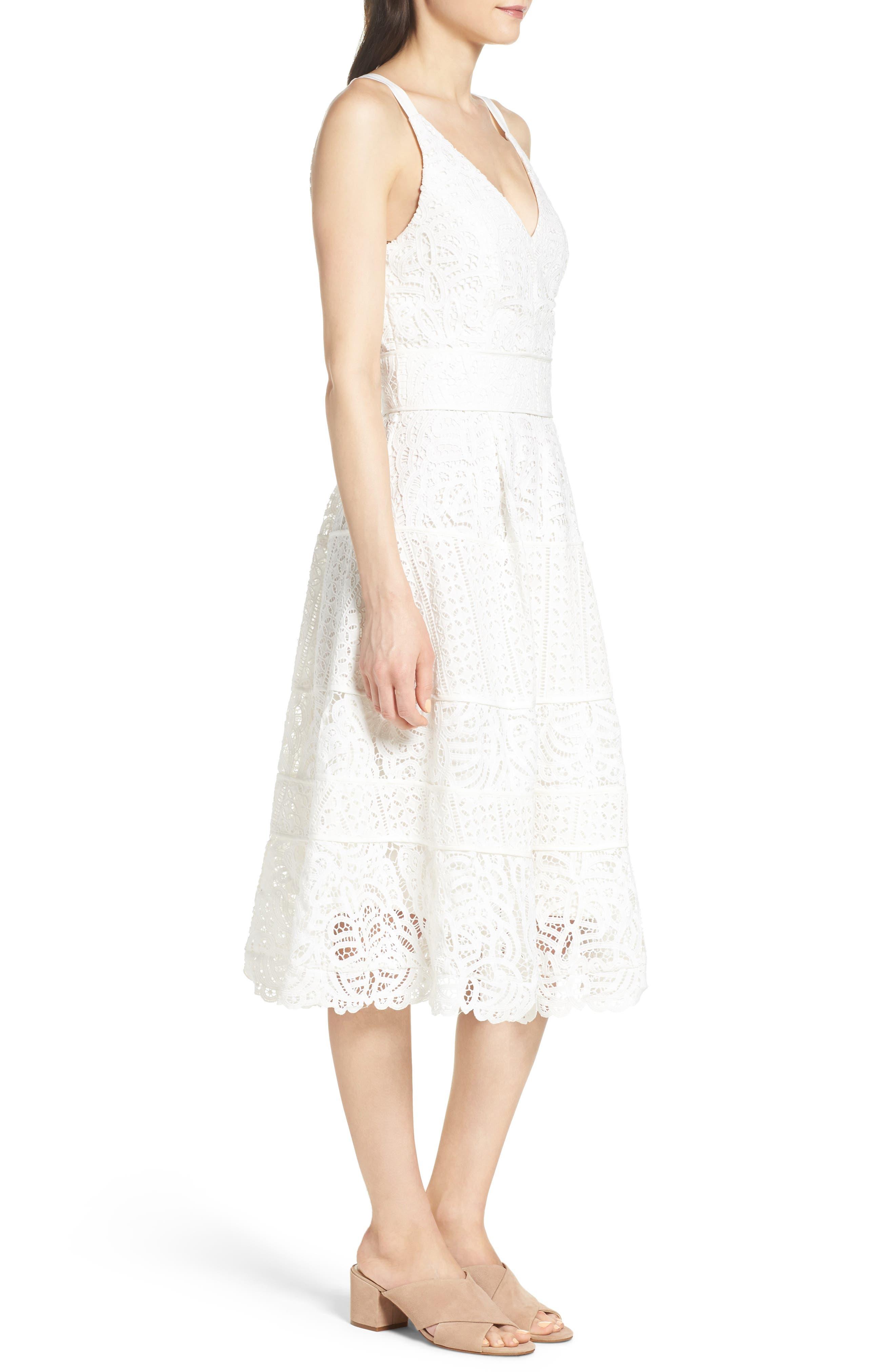 Fit & Flare Midi Dress,                             Alternate thumbnail 11, color,