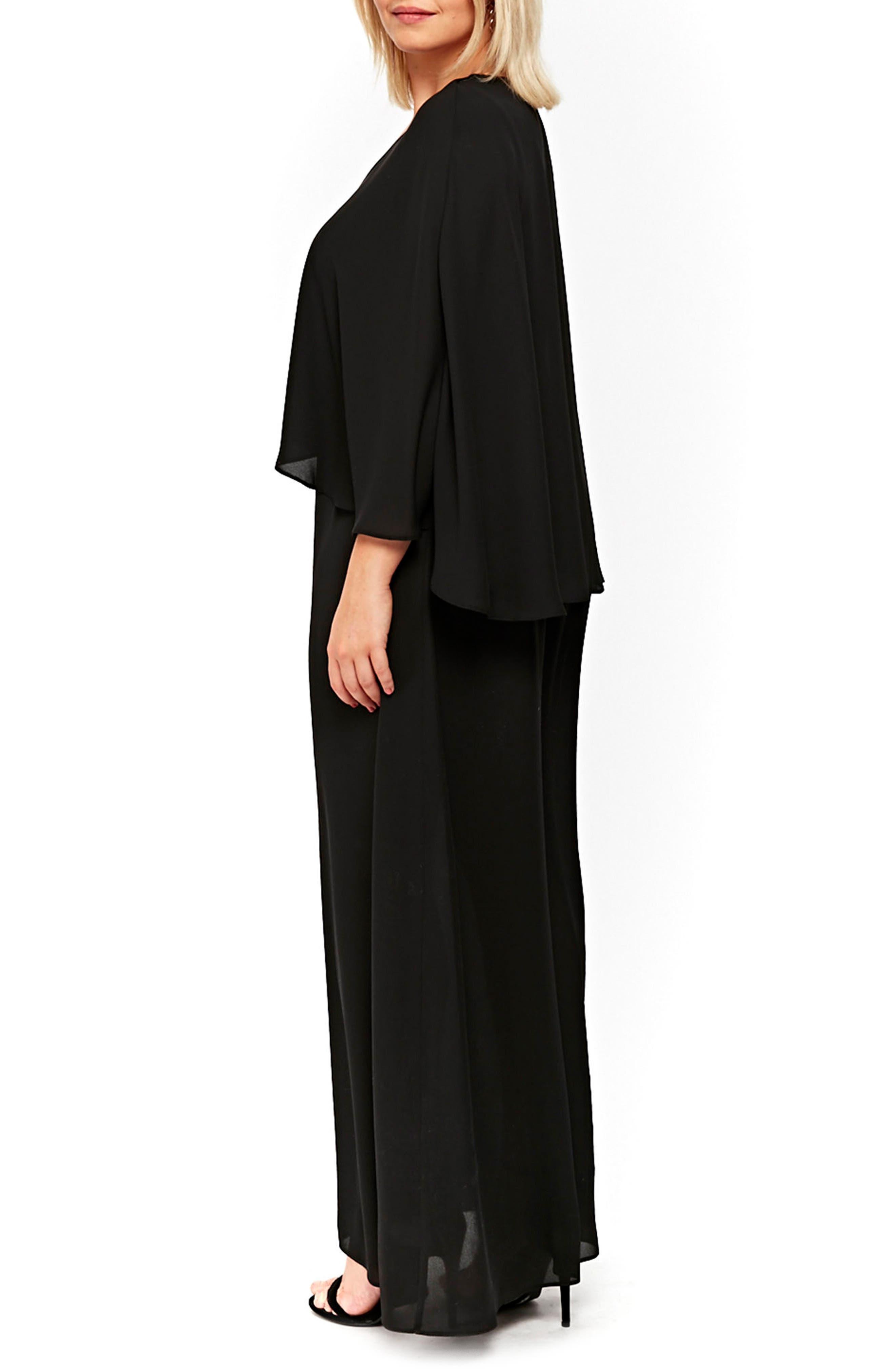 Overlay Maxi Dress,                             Alternate thumbnail 2, color,                             012