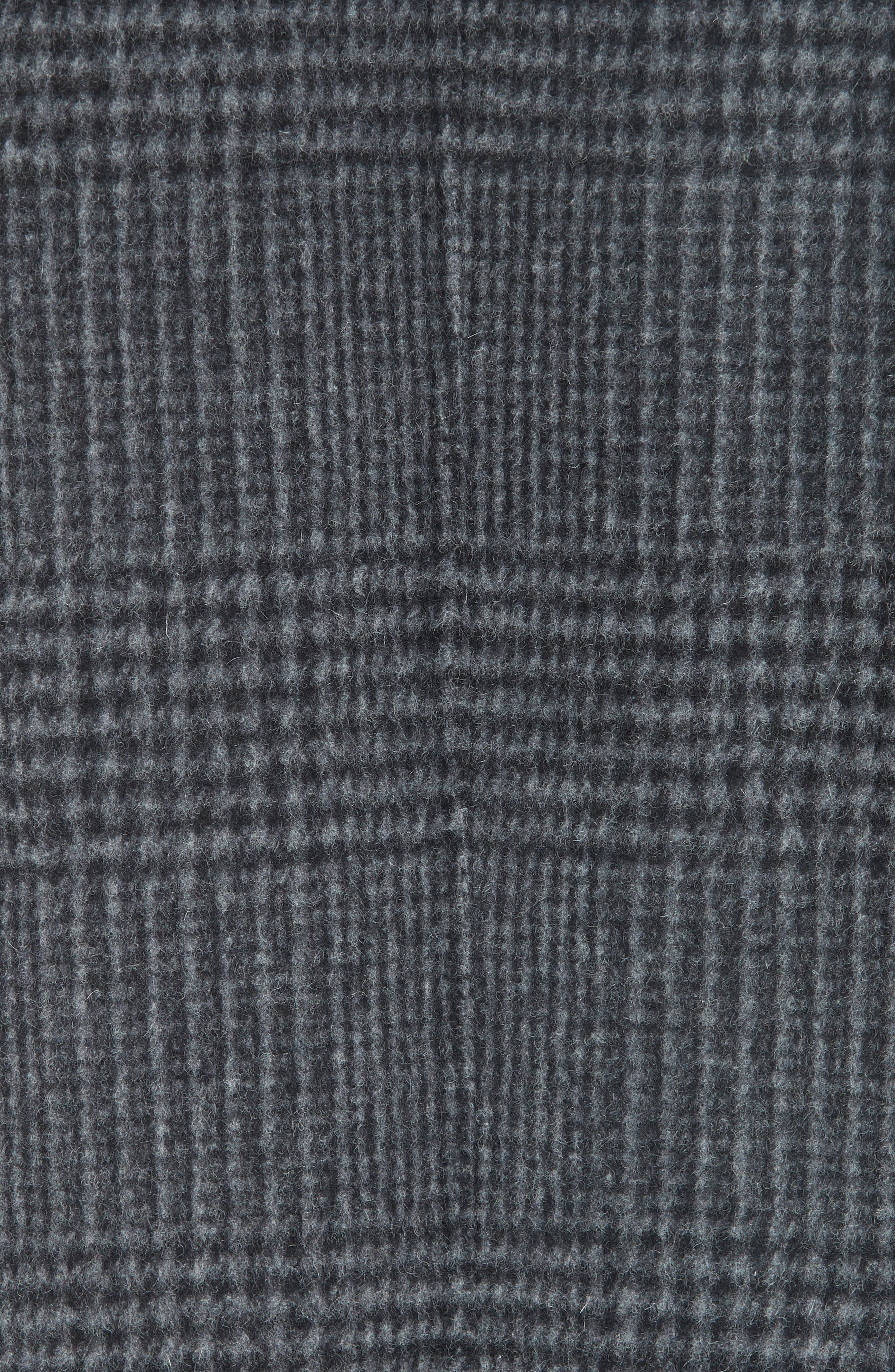 Plaid Wool Blend Coat,                             Alternate thumbnail 6, color,                             CHARCOAL GLEN PLAID