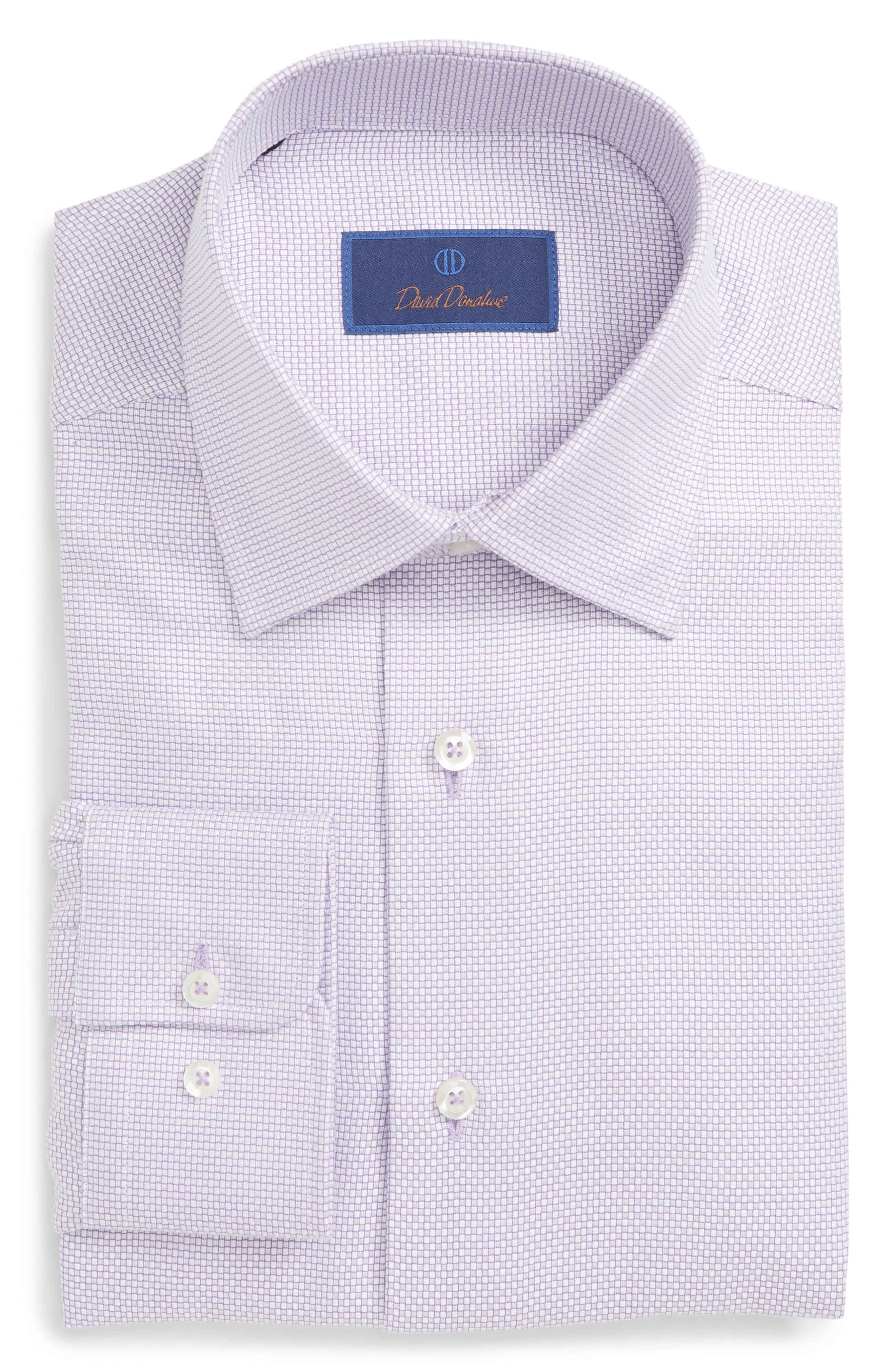 Regular Fit Check Dress Shirt,                             Main thumbnail 1, color,                             LILAC