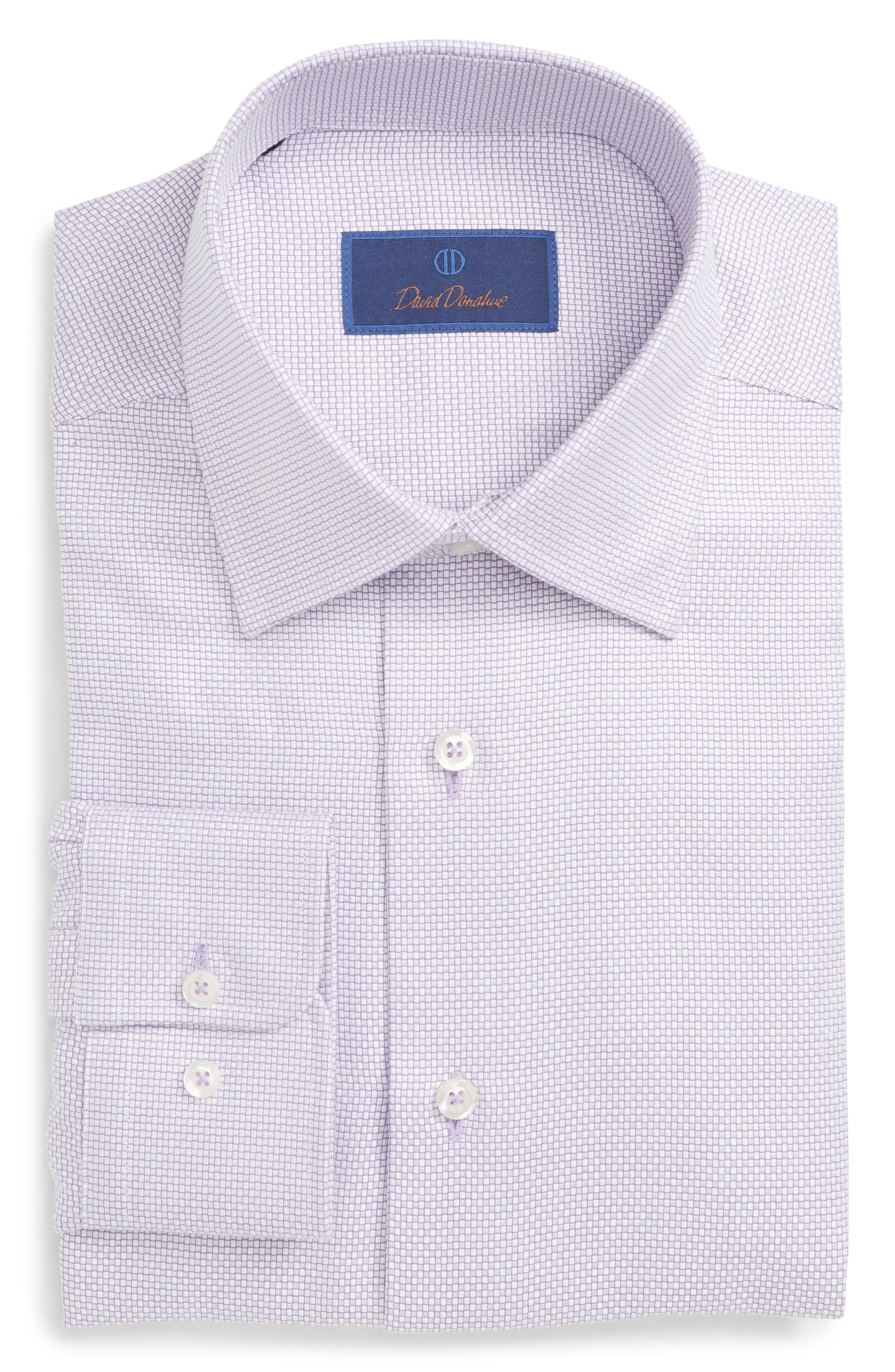 Regular Fit Check Dress Shirt,                         Main,                         color, LILAC