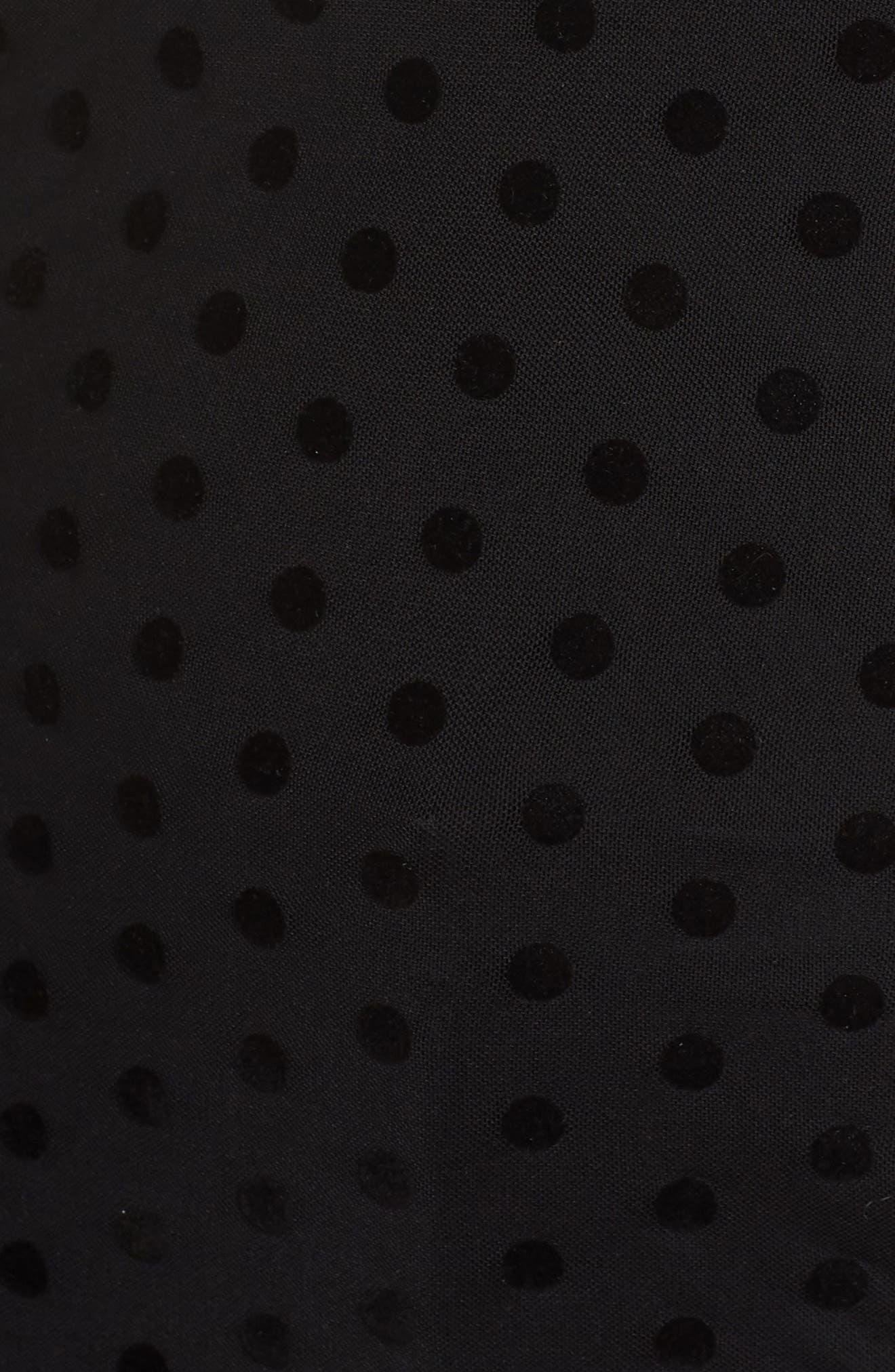 Sheer Mesh Dot Top,                             Alternate thumbnail 5, color,                             001