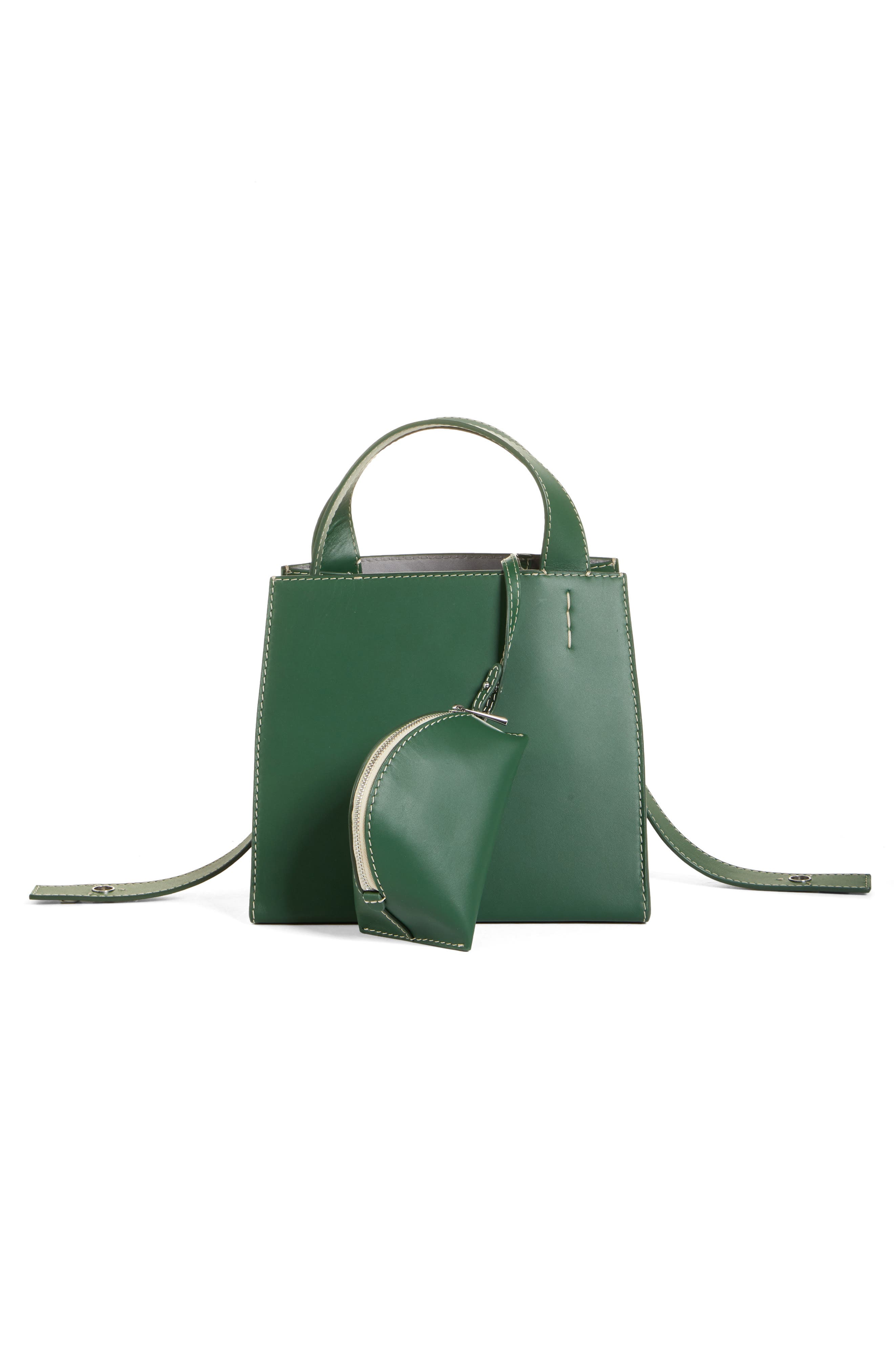Margot Leather & Genuine Shearling Tote Bag,                             Alternate thumbnail 4, color,                             300