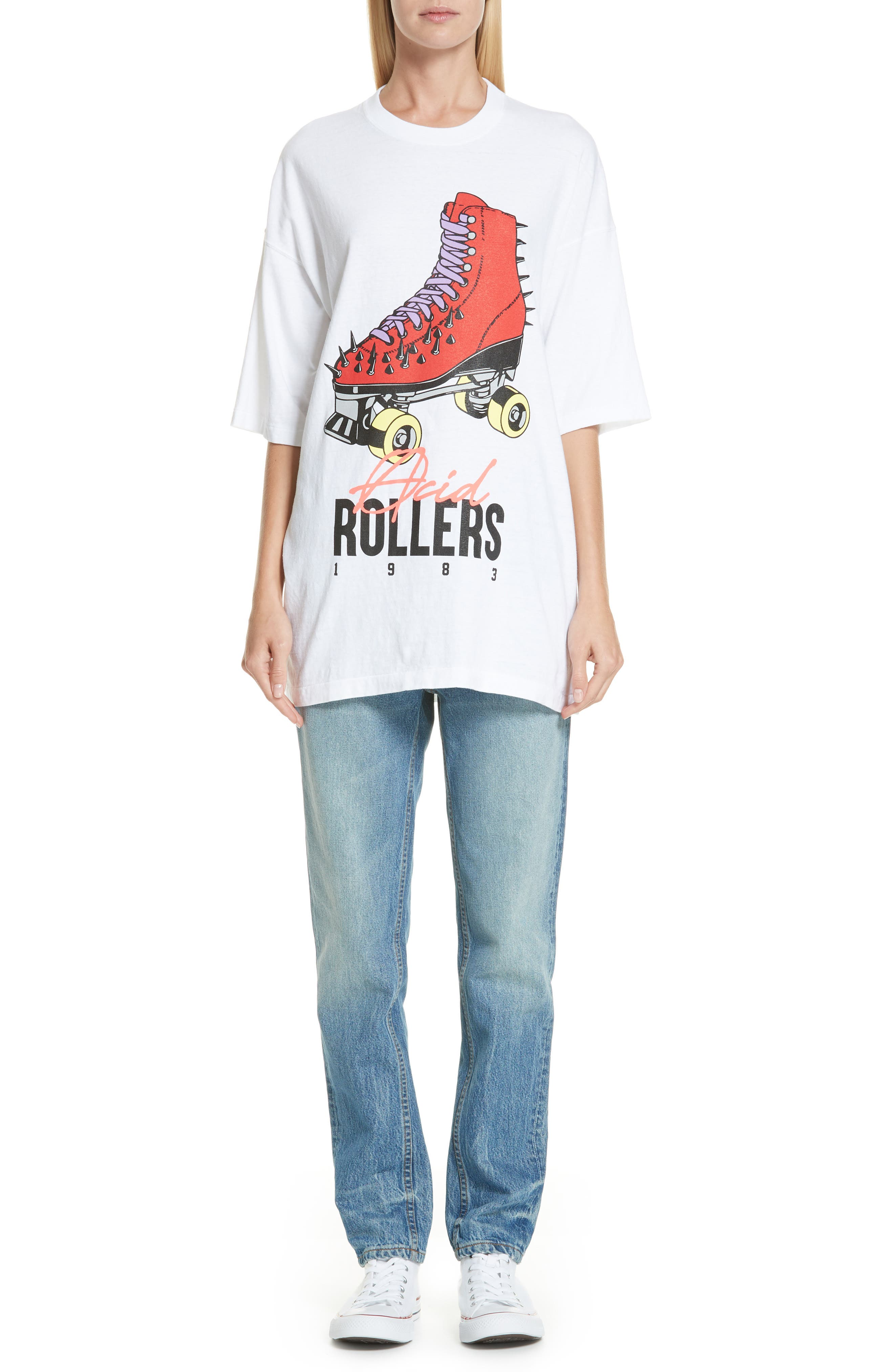 Acid Rollers Tee,                             Alternate thumbnail 7, color,                             A WHITE