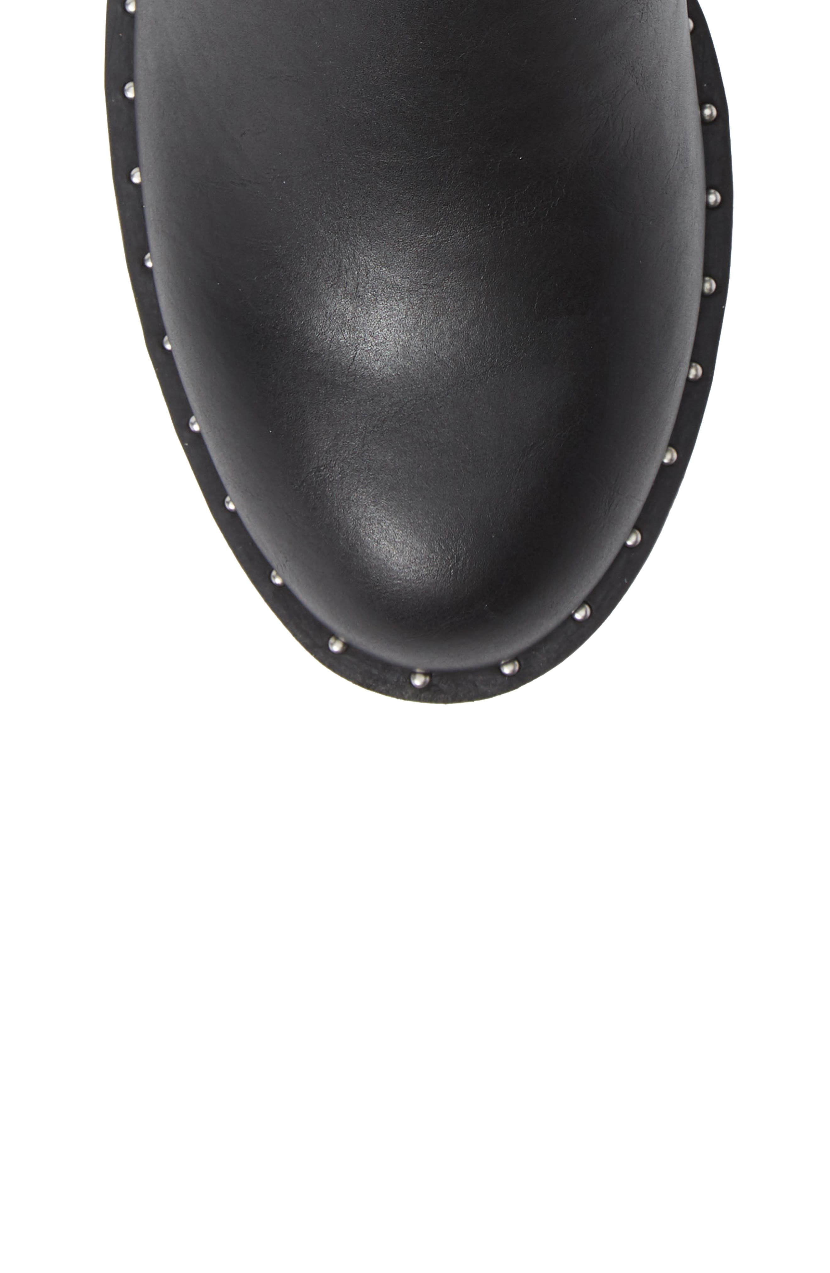 Thief Studded Bootie,                             Alternate thumbnail 5, color,                             BLACK SYNTHETIC