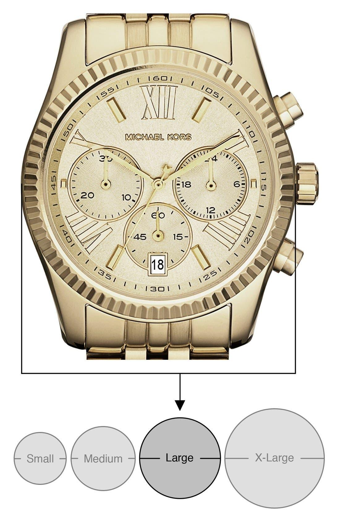 'Lexington' Chronograph Bracelet Watch, 38mm,                             Alternate thumbnail 38, color,