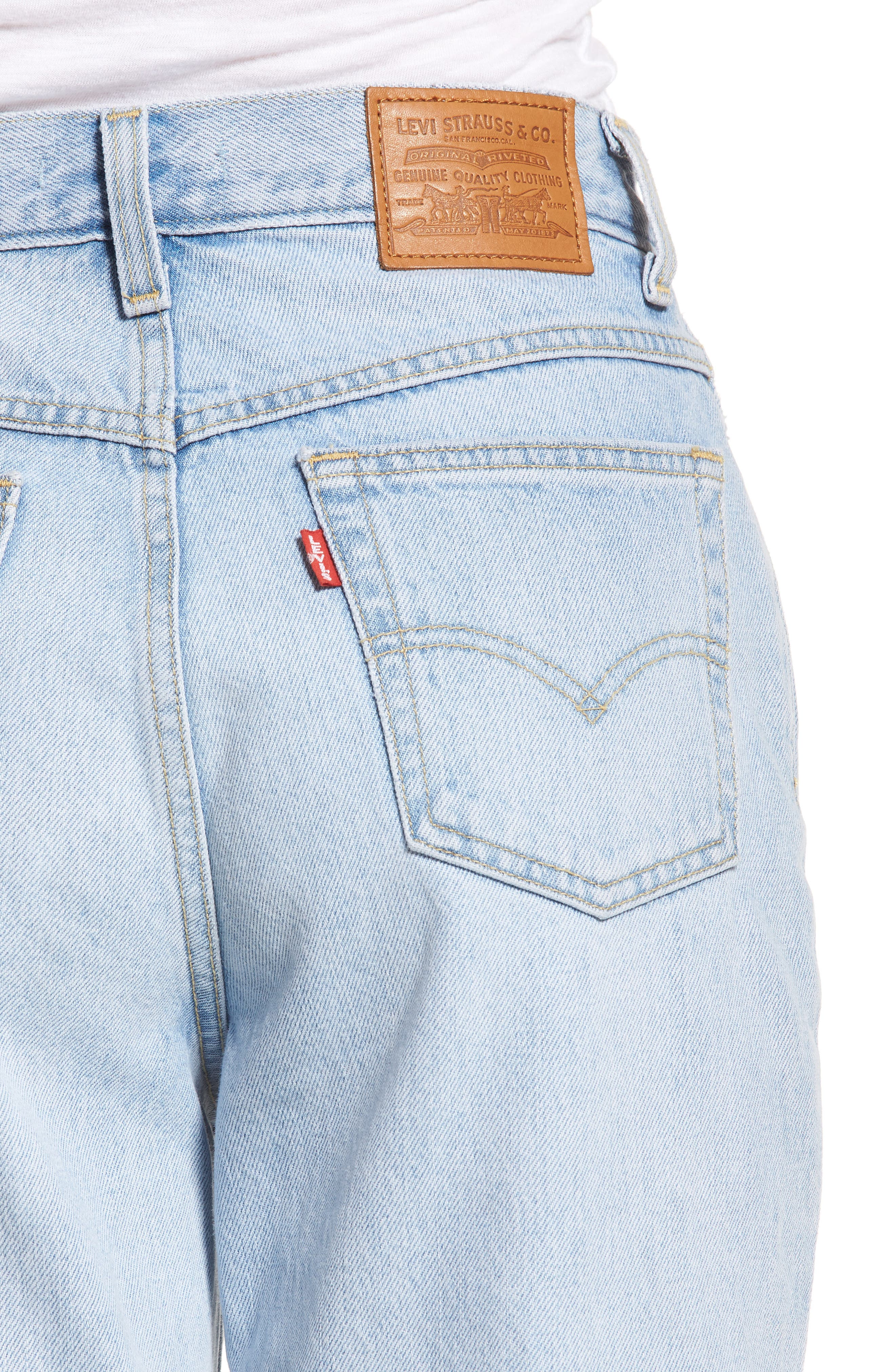 Mom High Waist Jeans,                             Alternate thumbnail 4, color,                             450