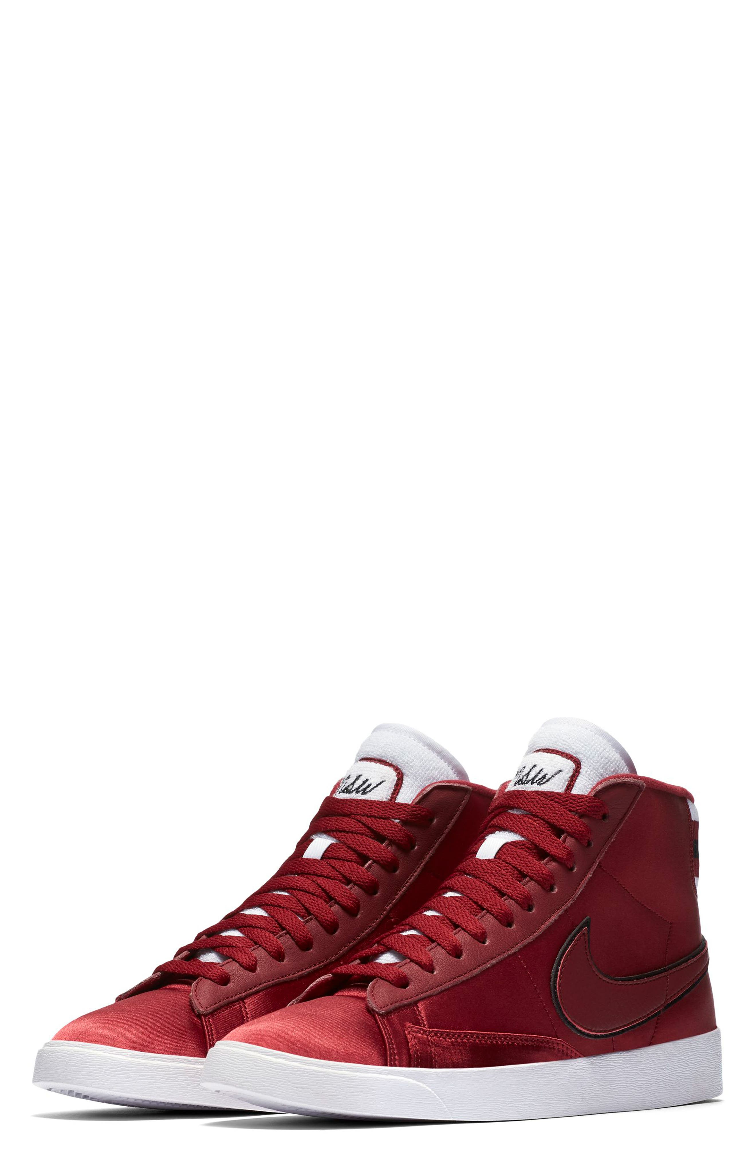 Blazer Mid Top Sneaker,                         Main,                         color, RED CRUSH/ WHITE/ BLACK