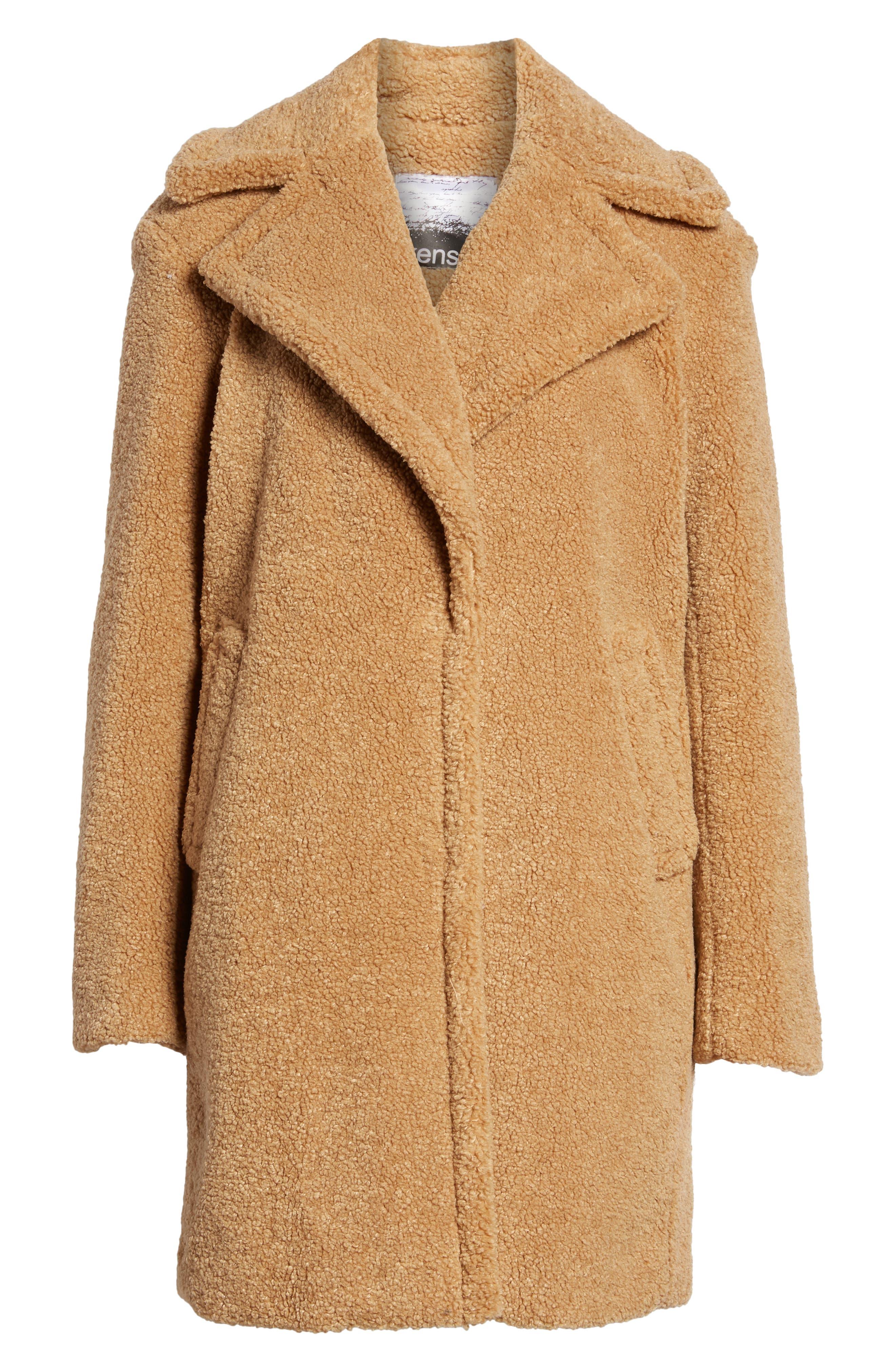 Faux Fur Teddy Bear Coat,                             Alternate thumbnail 5, color,                             256