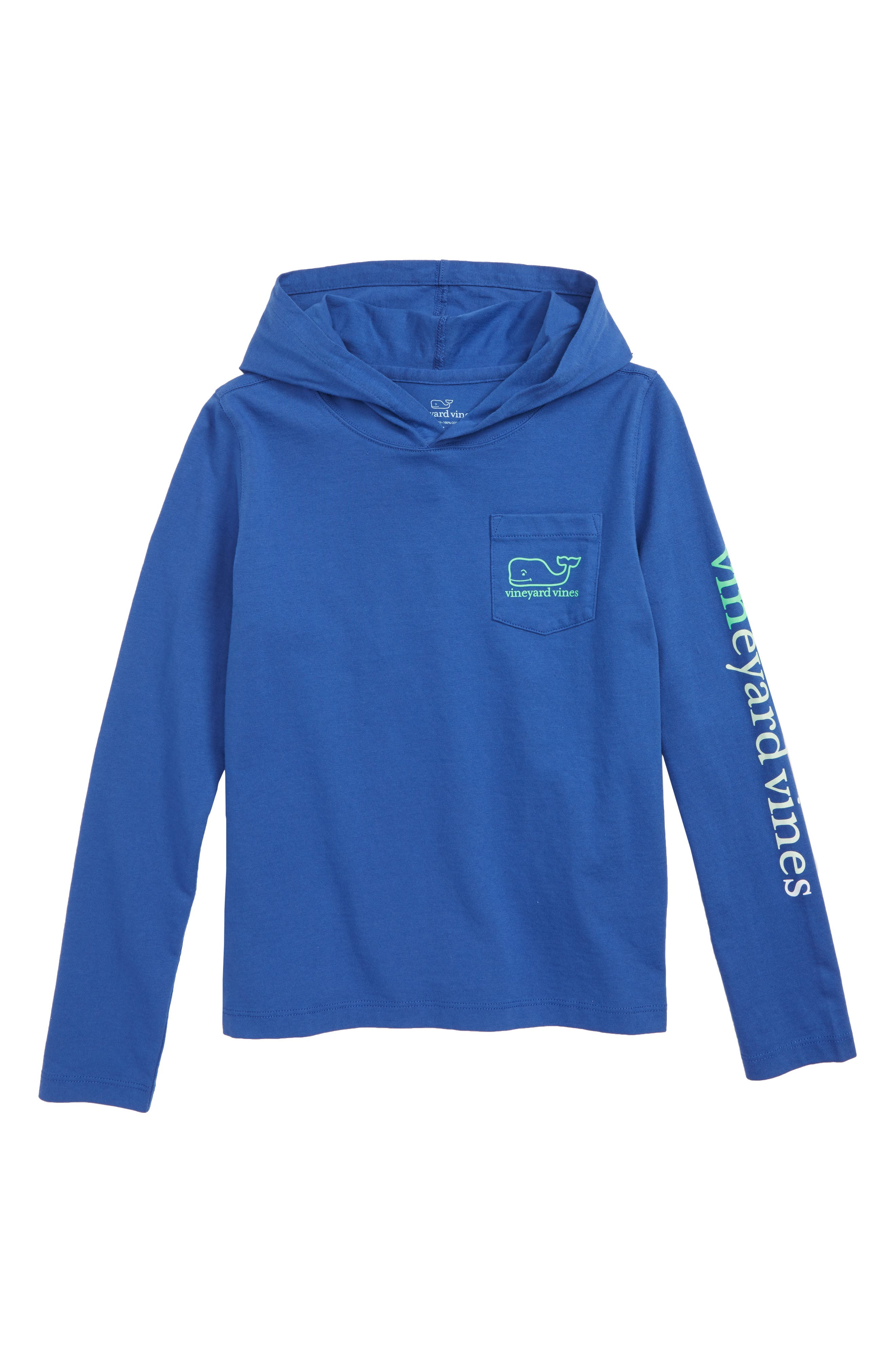 Long Sleeve Whale Hoodie,                         Main,                         color, ROYAL OCEAN
