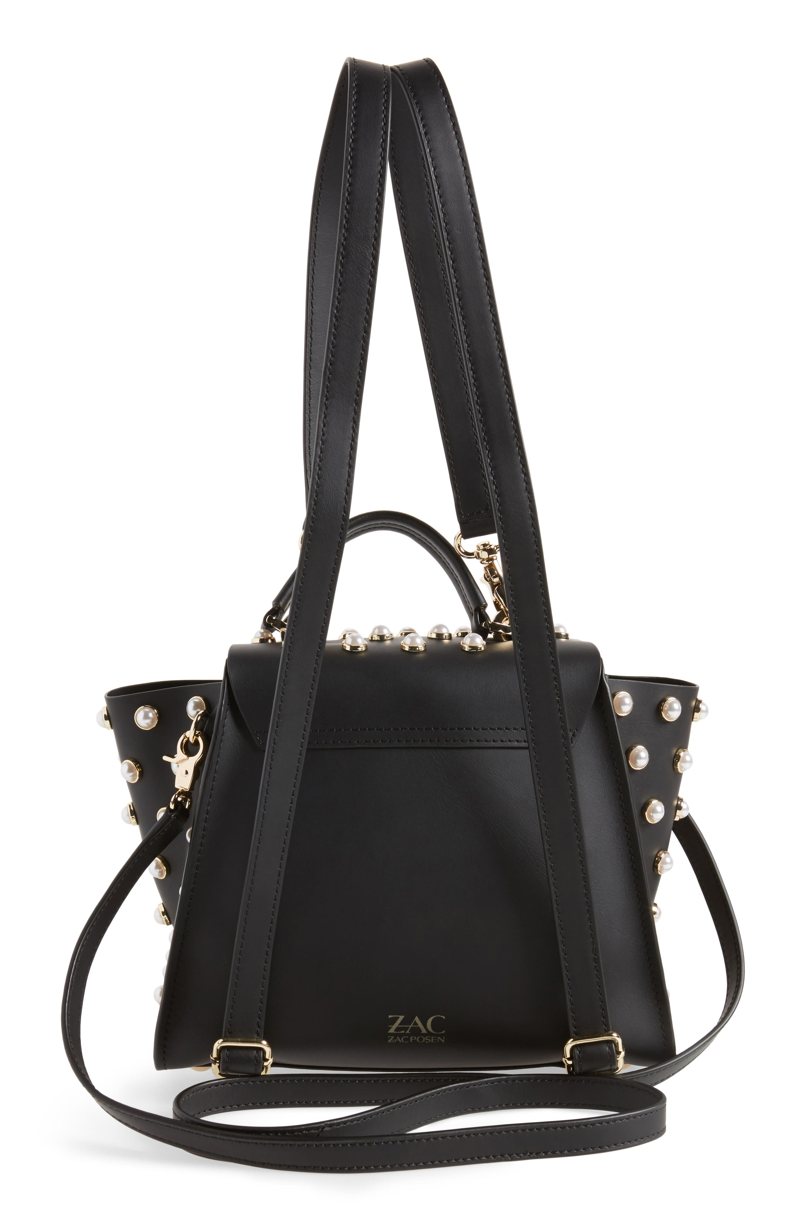Eartha Iconic Embellished Convertible Leather Backpack,                             Alternate thumbnail 3, color,