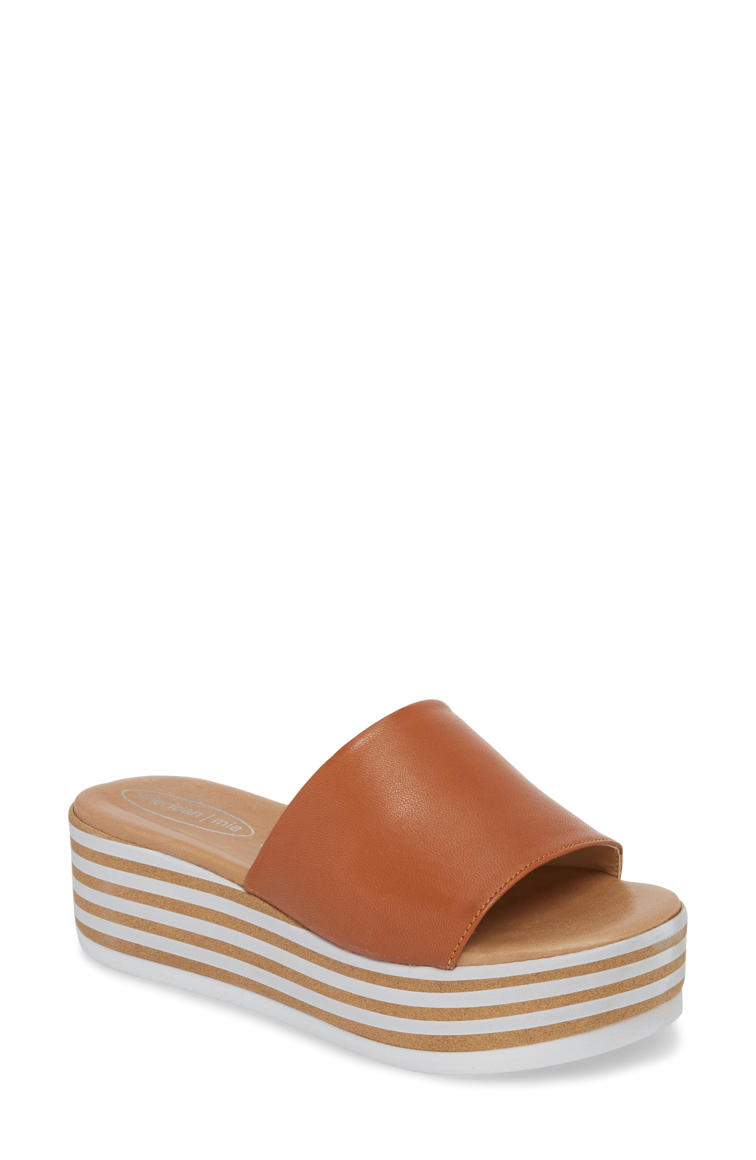Sheridan Mia Reesa Platform Slide Sandal, Brown