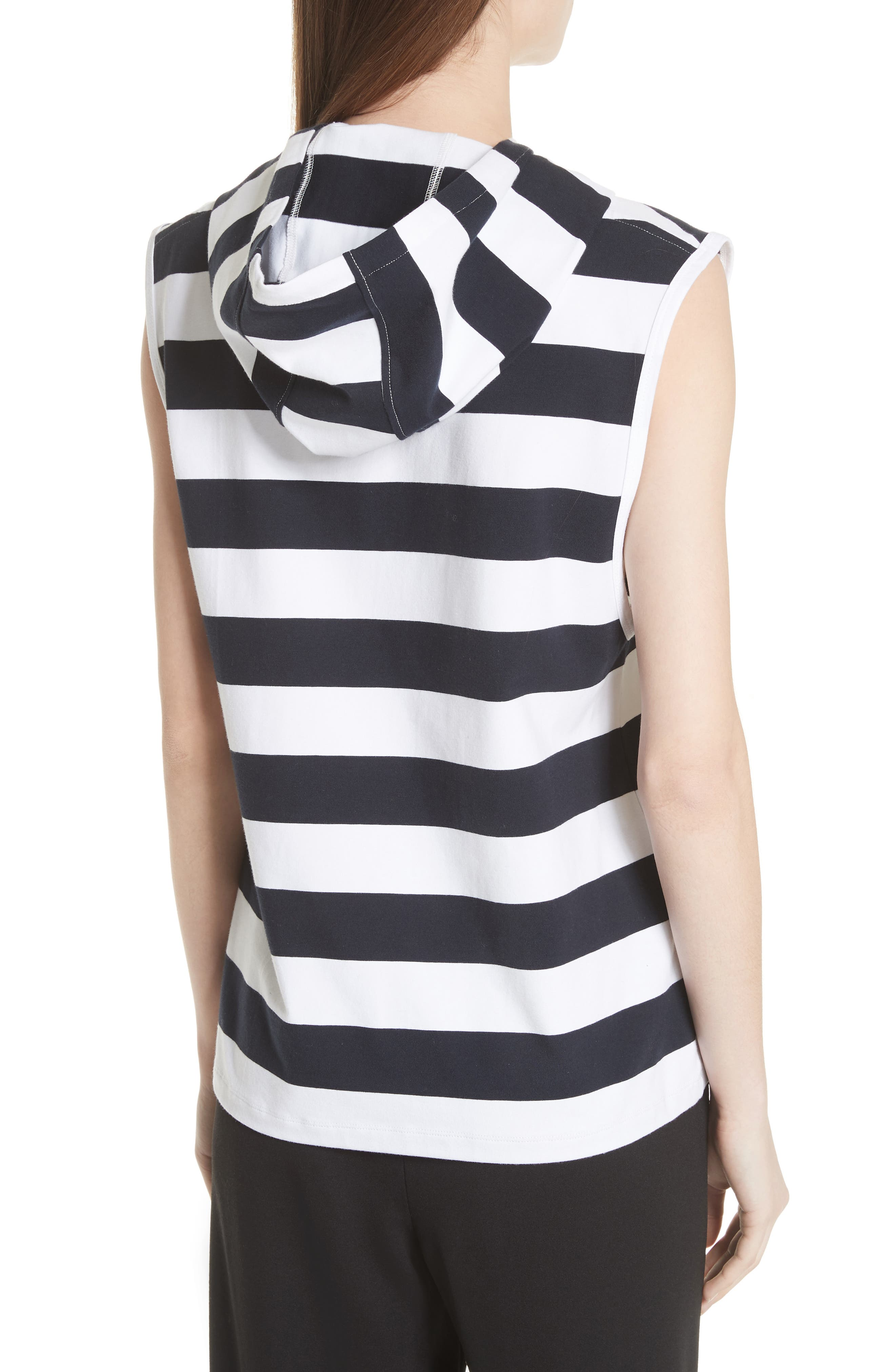 Muscle Stripe Stretch Cotton Tee,                             Alternate thumbnail 2, color,