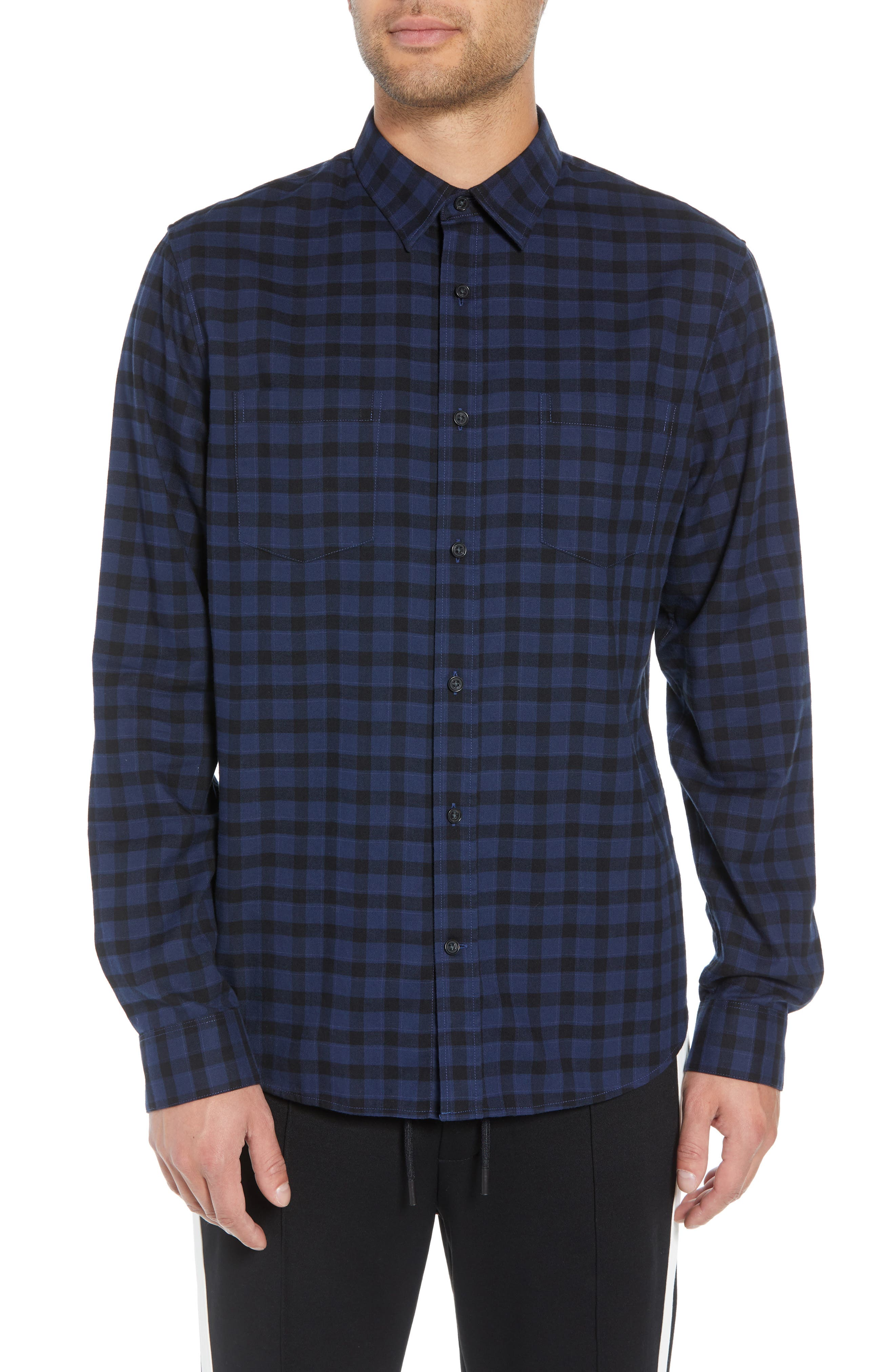 Classic Fit Gingham Sport Shirt,                         Main,                         color, 464