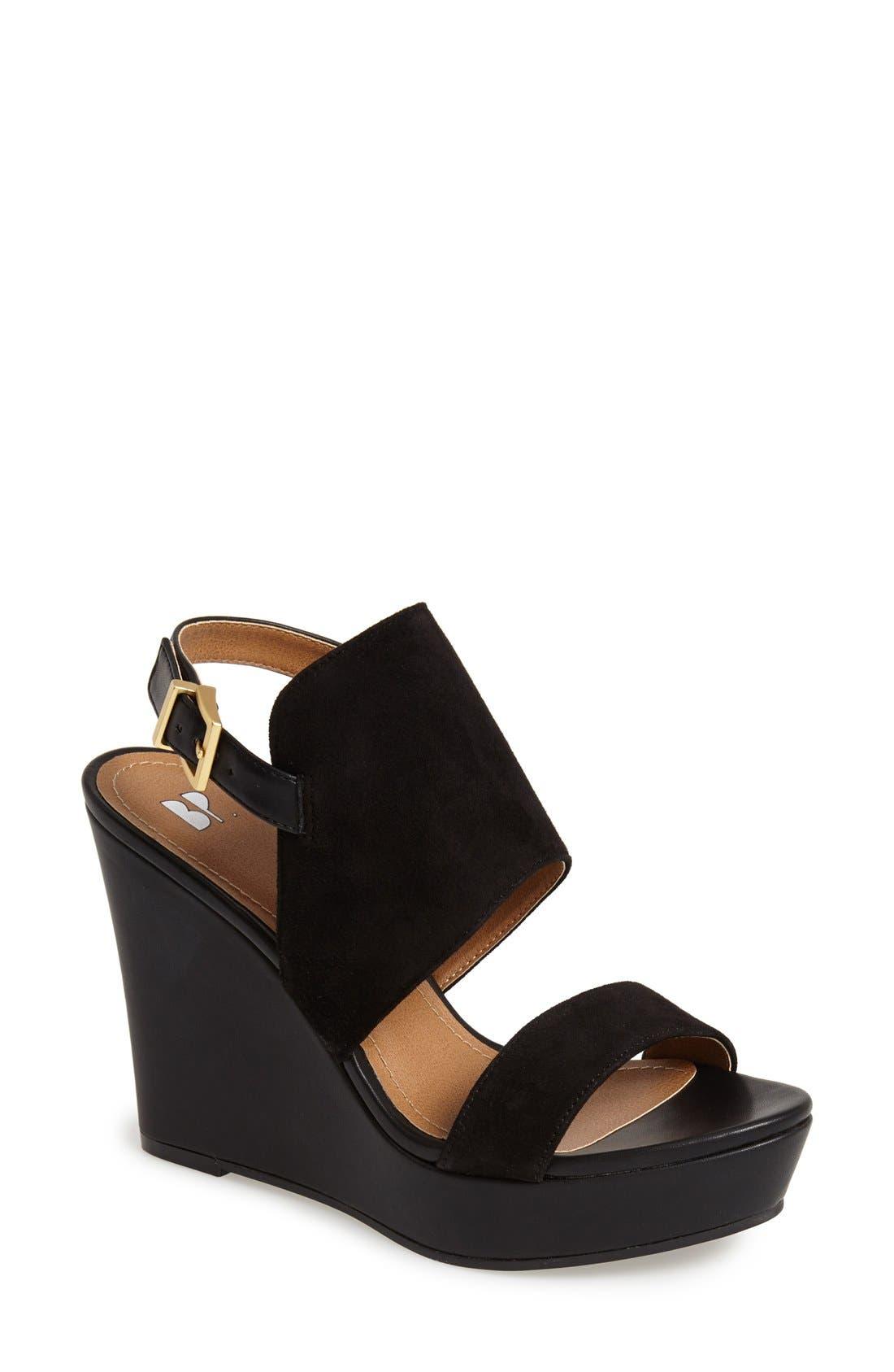 'Lena' Wedge Sandal, Main, color, 001
