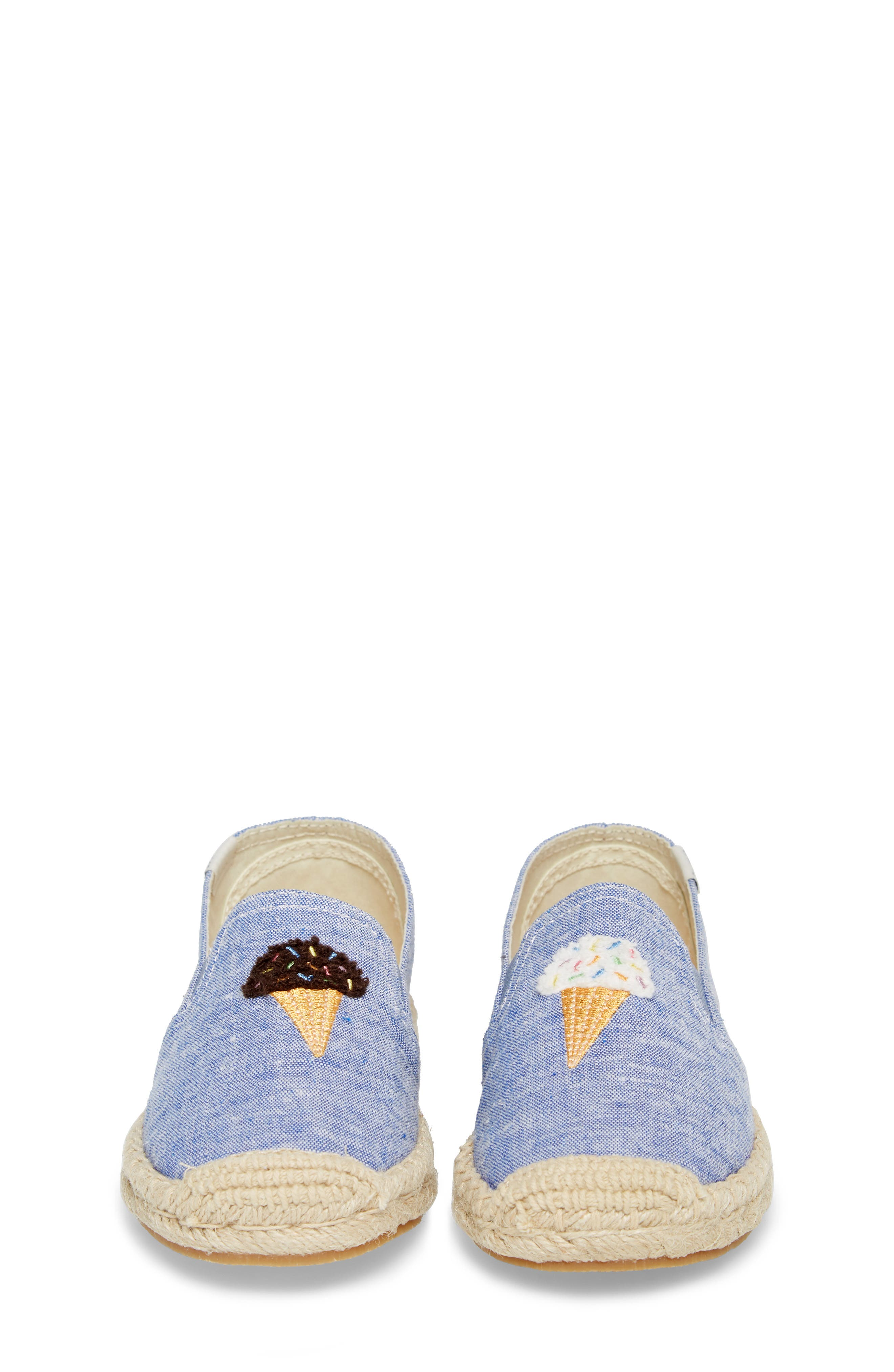 Ice Cream Embroidered Espadrille,                             Alternate thumbnail 5, color,                             OCEAN BLUE