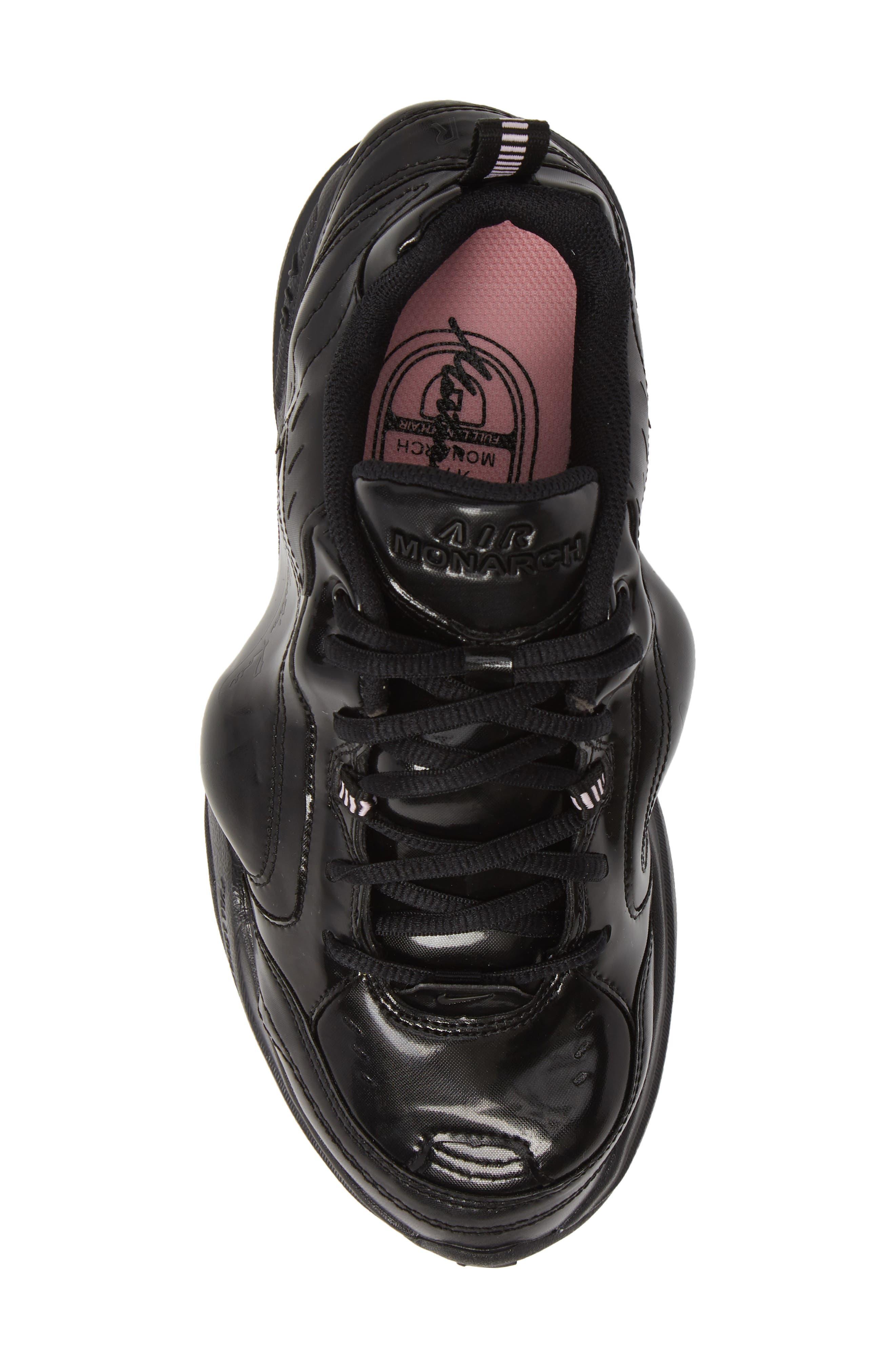 x Martine Rose Air Monarch IV Sneaker,                             Alternate thumbnail 5, color,                             BLACK/ SOFT PINK