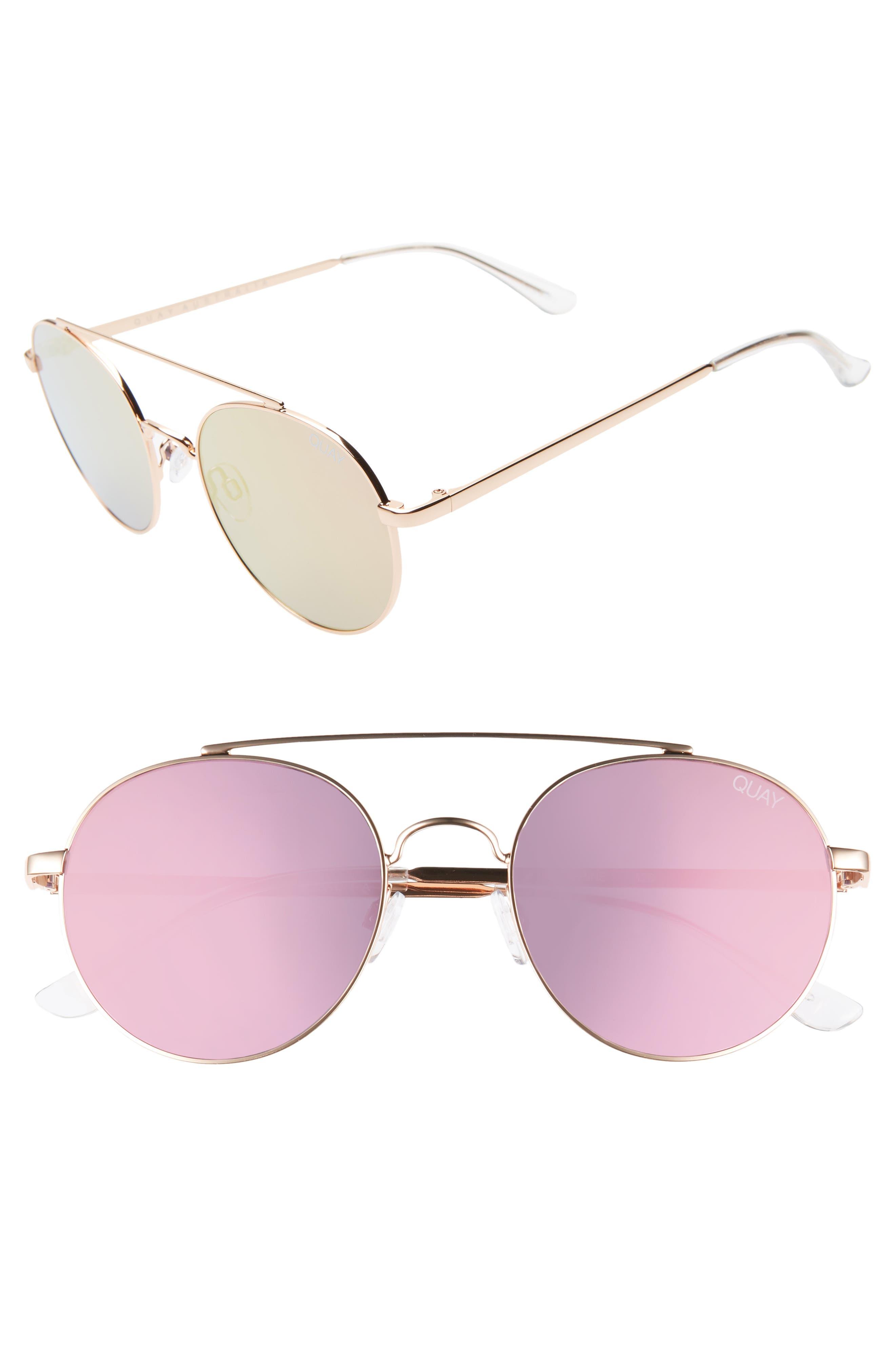 Quay Australia Outshine 5m Round Sunglasses - Rose / Pink
