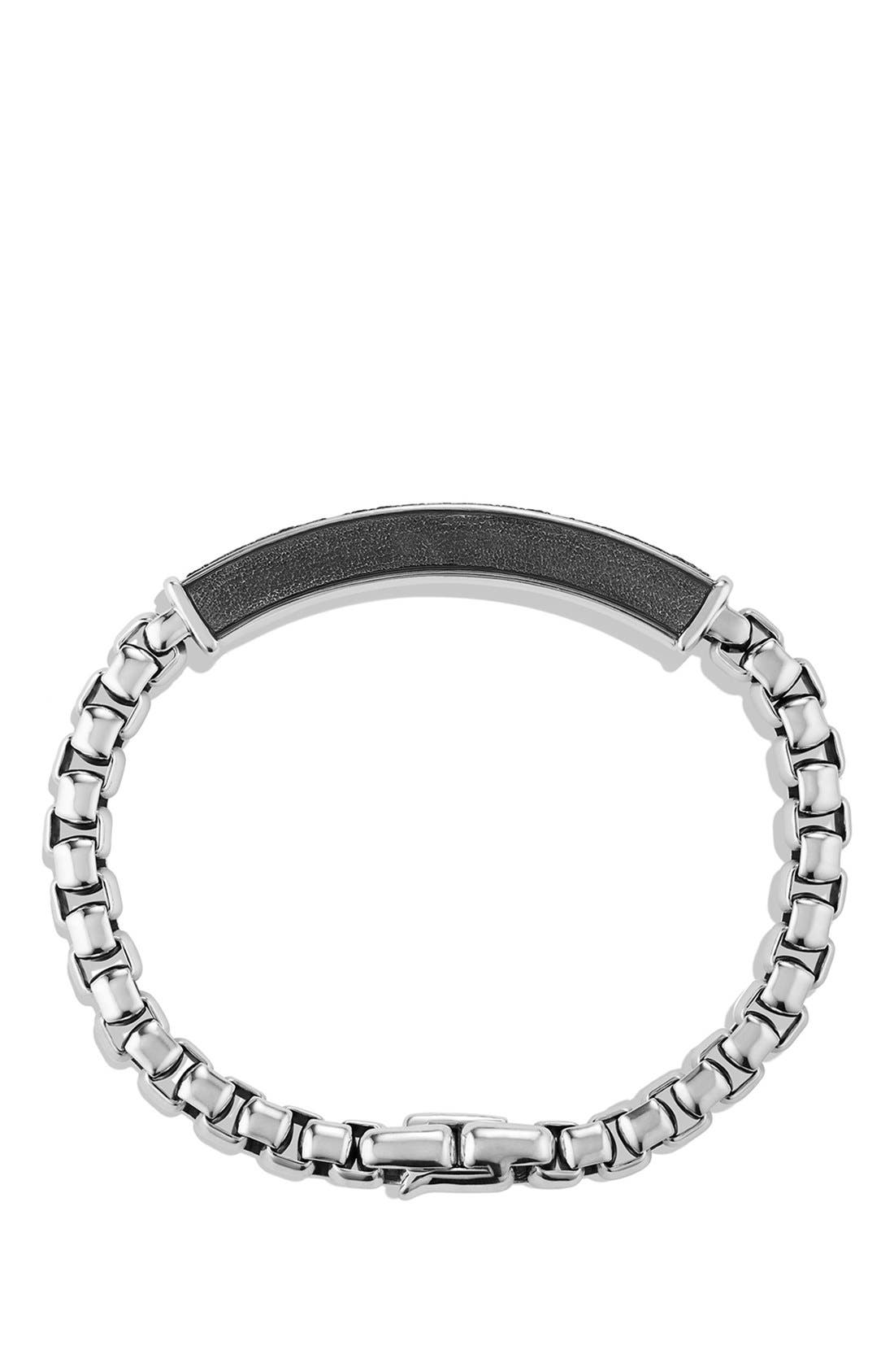 Pavé ID Bracelet with Gray Sapphires,                             Alternate thumbnail 2, color,                             GREY SAPPHIRE