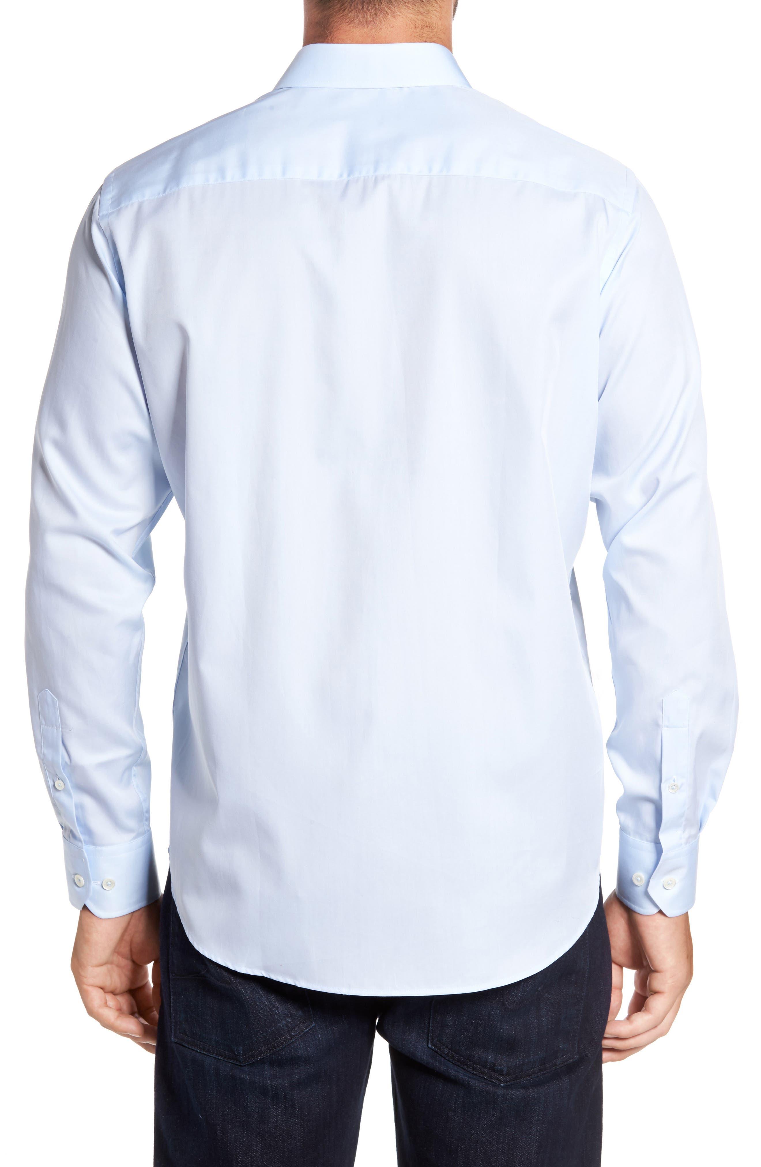 Classic Fit Sport Shirt,                             Alternate thumbnail 2, color,                             ICE BLUE