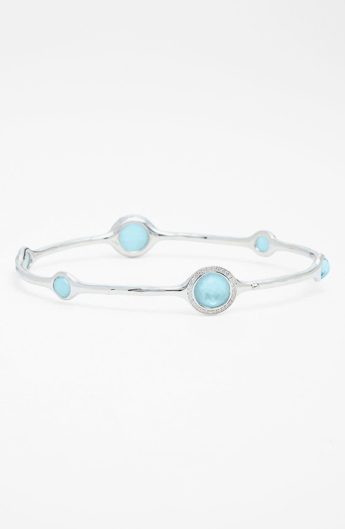 'Stella - Rock Candy' 6-Stone Bangle,                             Main thumbnail 1, color,                             SILVER/ BLUE TOPAZ