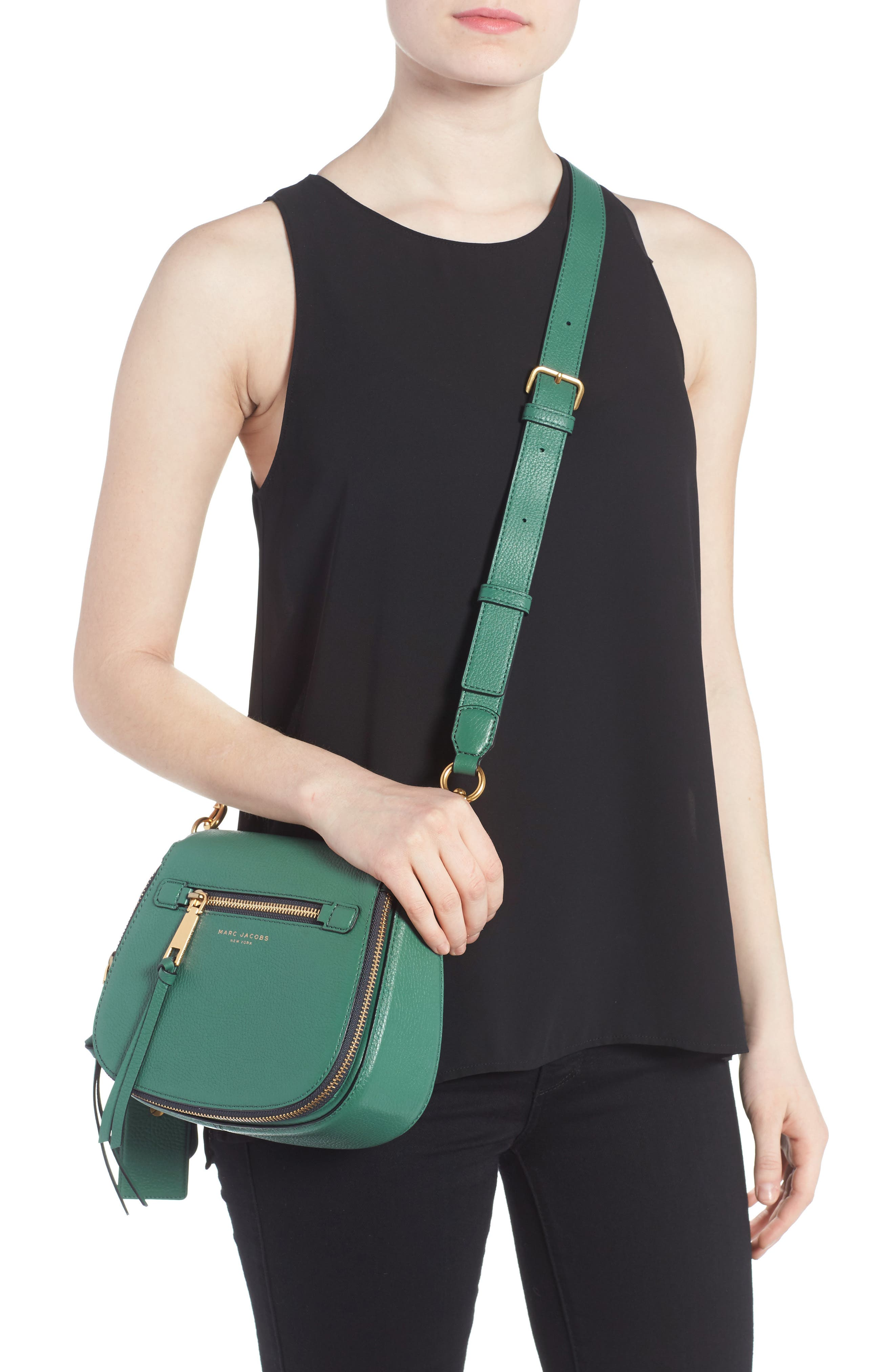 Small Recruit Nomad Pebbled Leather Crossbody Bag,                             Alternate thumbnail 22, color,
