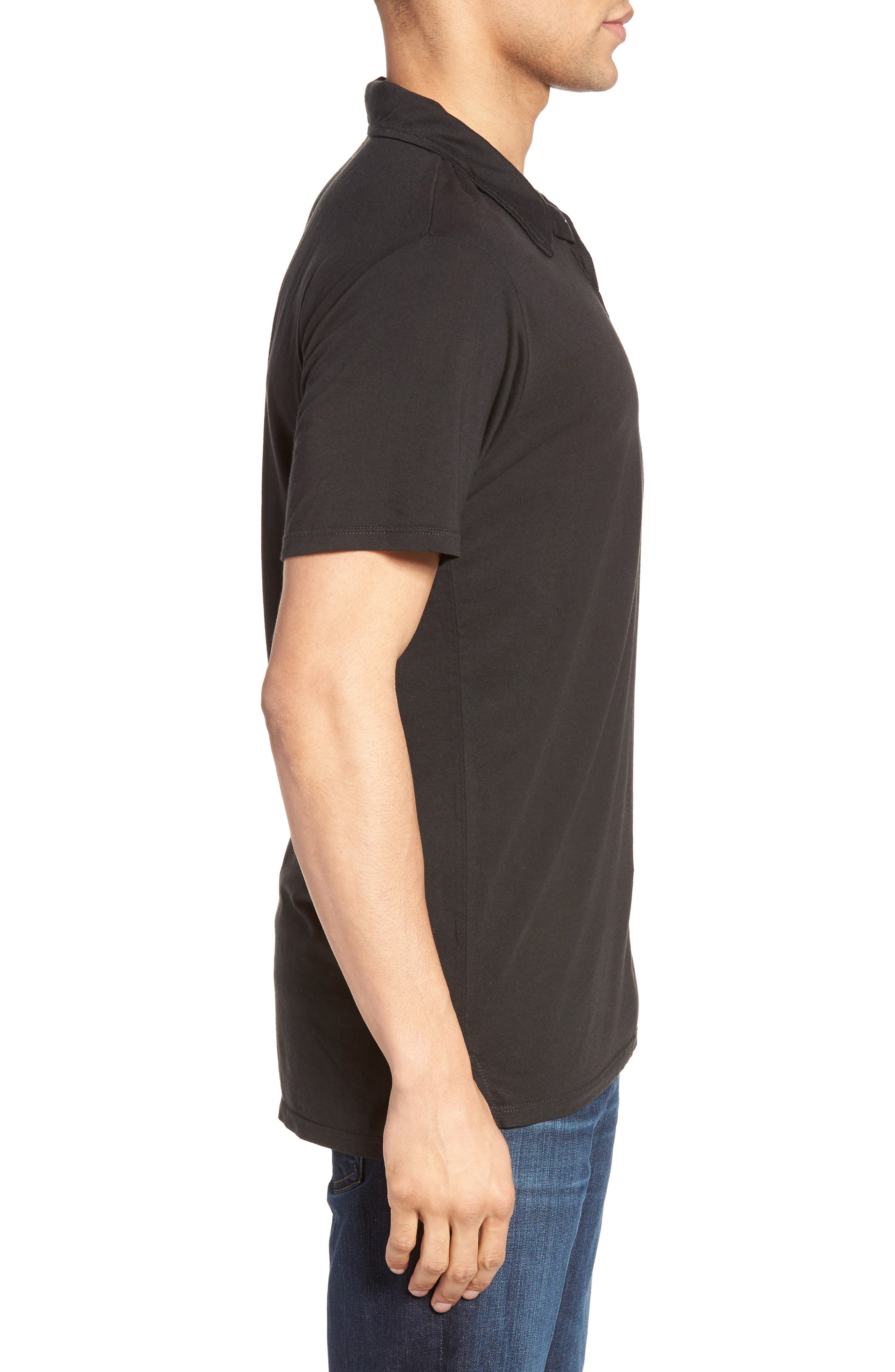 Essential Jersey Polo,                             Alternate thumbnail 3, color,                             001