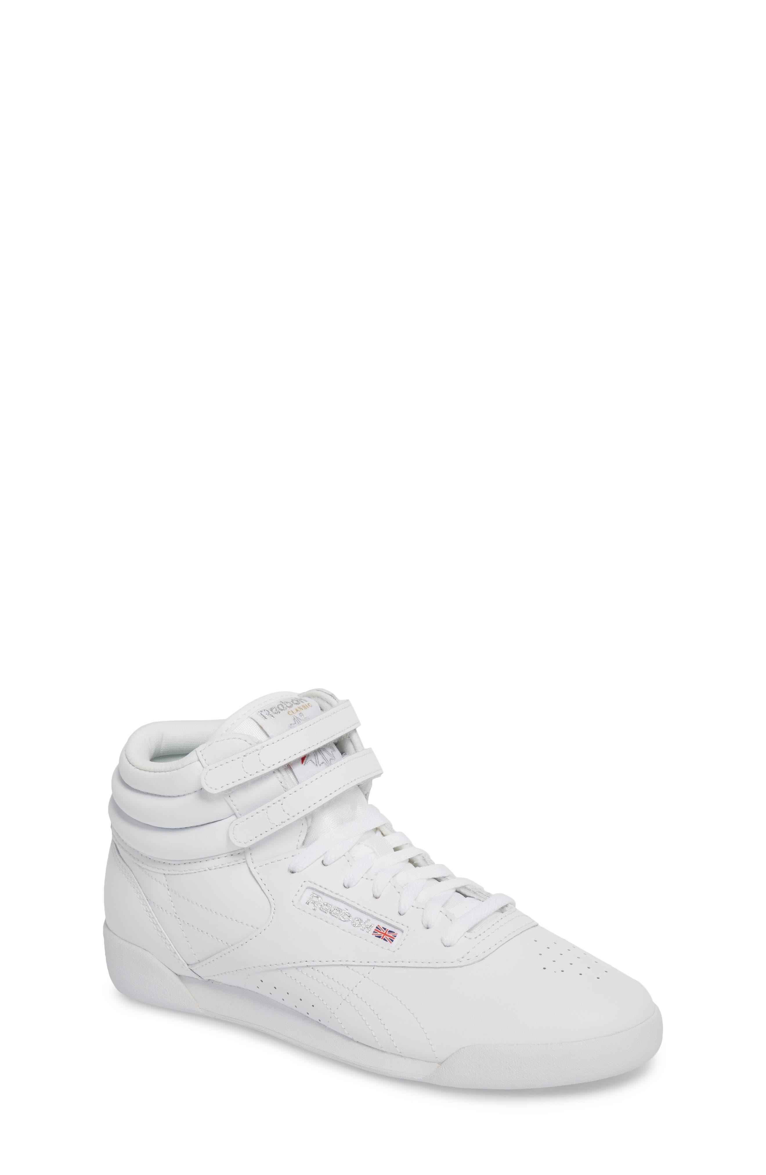 Freestyle Hi Sneaker,                         Main,                         color, WHITE/ SILVER