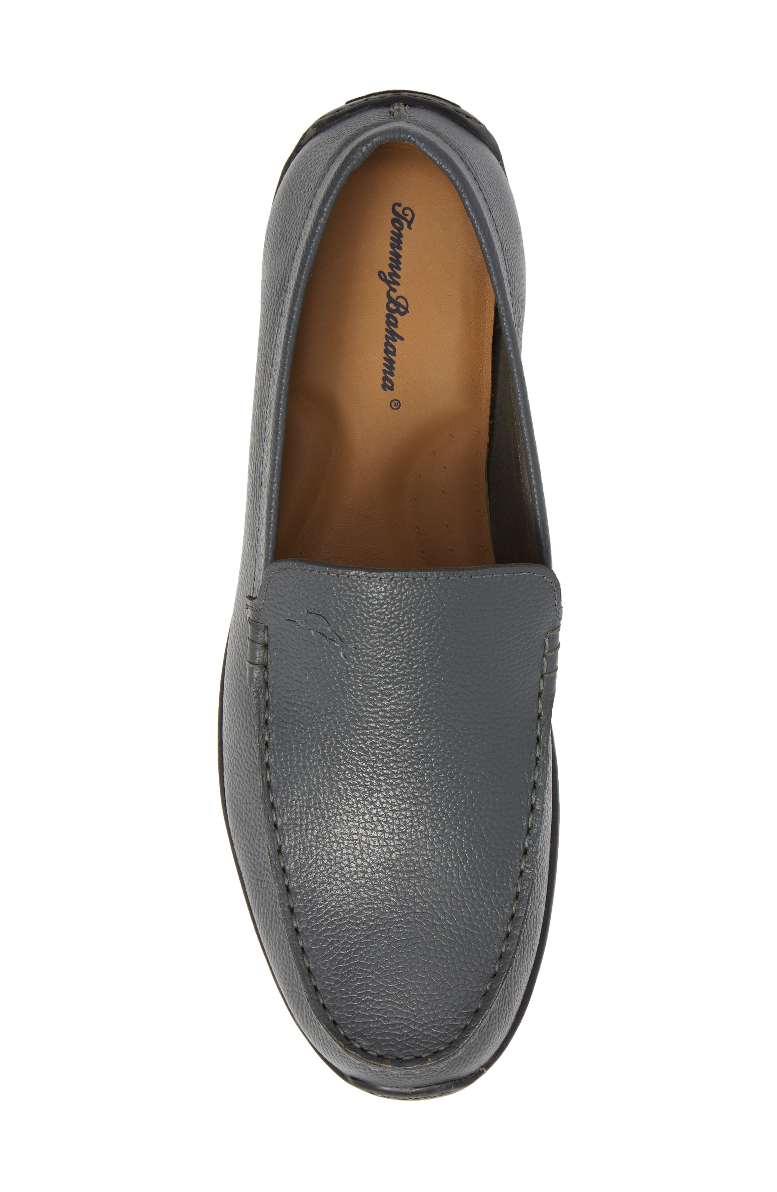 Orion Venetian Loafer,                             Alternate thumbnail 5, color,                             GREY TUMBLED LEATHER