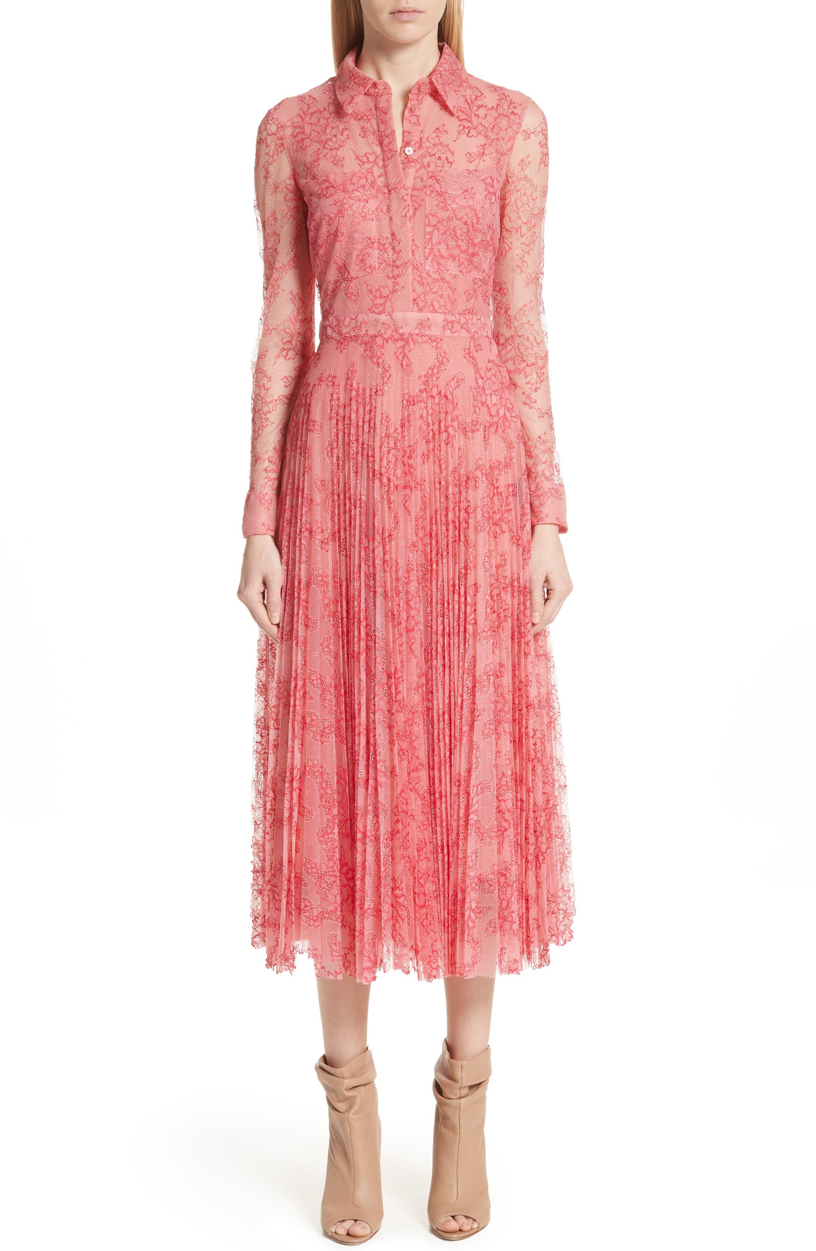 Clementine Floral Lace Midi Dress,                             Main thumbnail 1, color,                             956