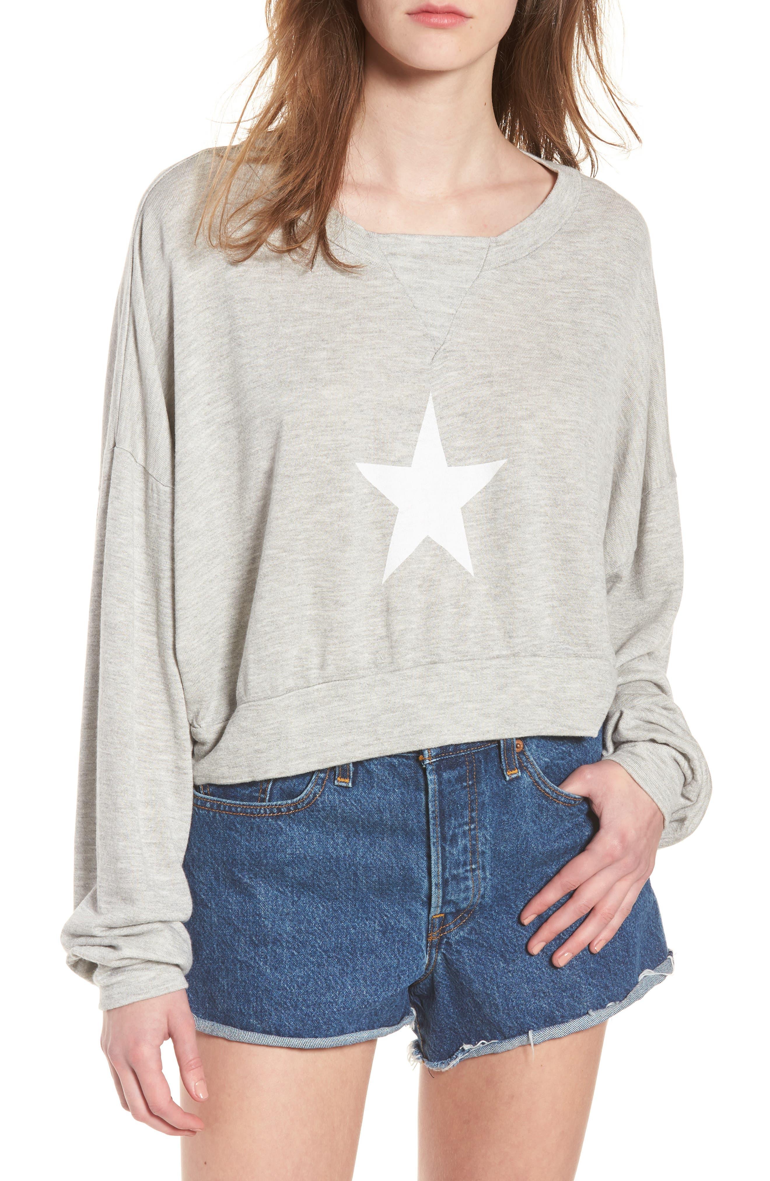 All Star Nella Pullover Sweatshirt,                         Main,                         color, 020