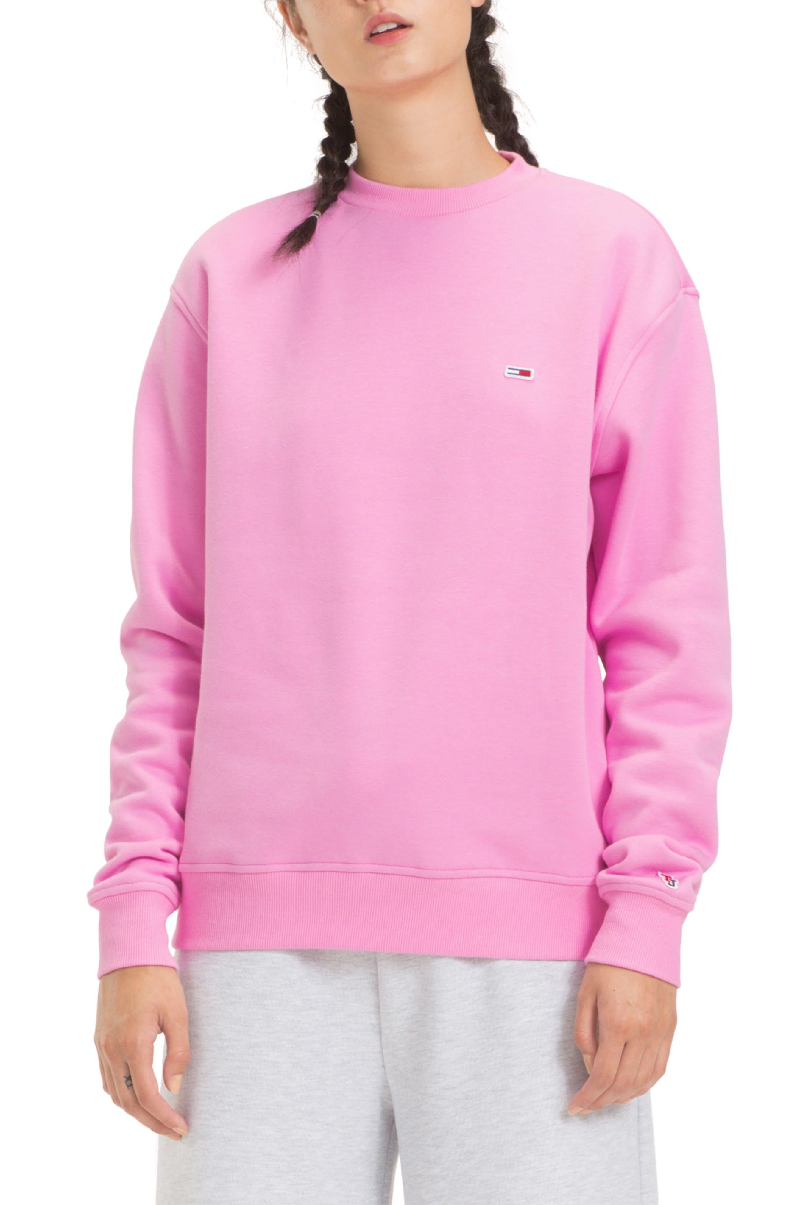 TOMMY JEANS TJW Tommy Classics Sweatshirt, Main, color, LILAC CHIFFON