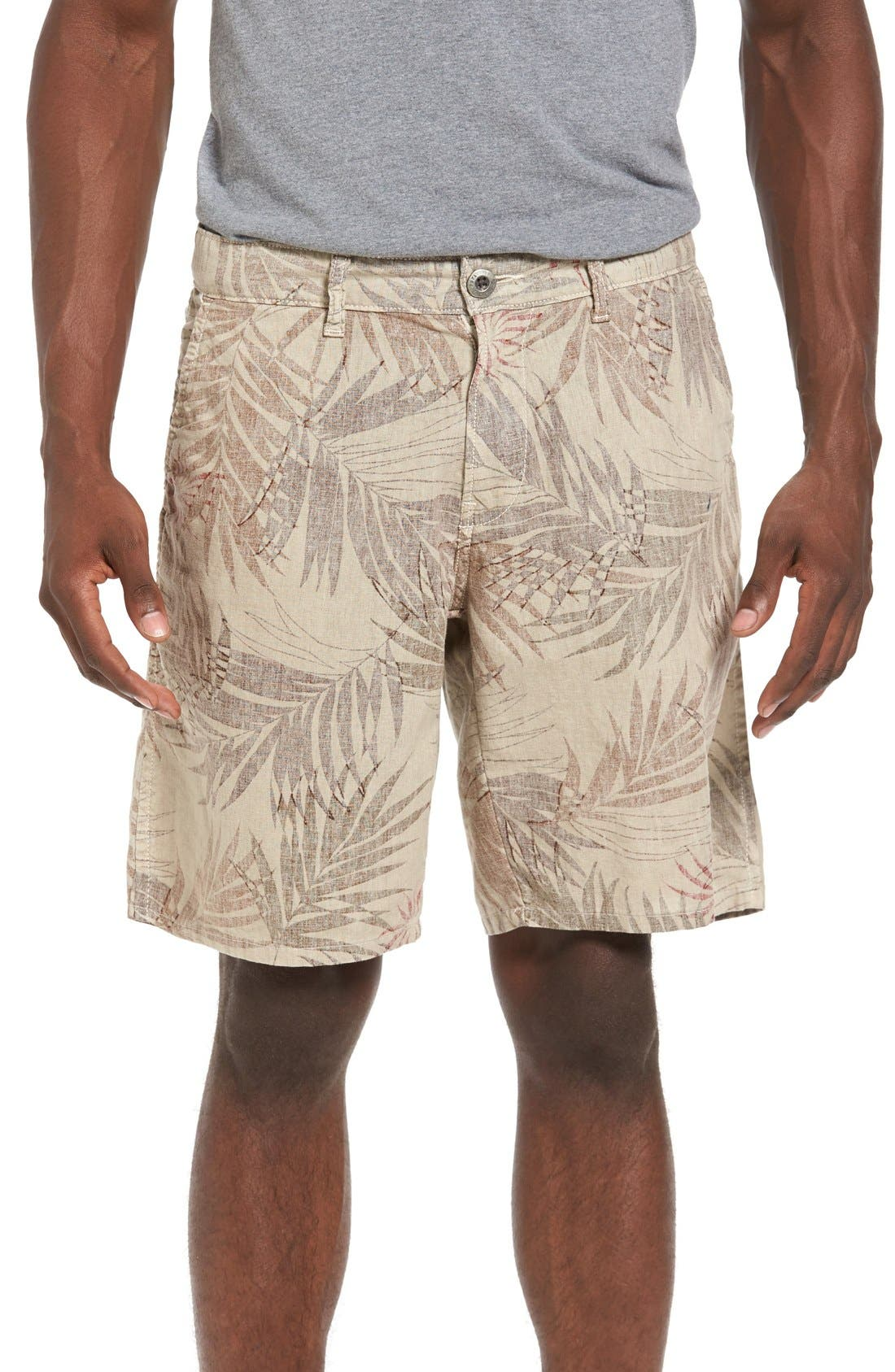 Rio Linen Shorts,                         Main,                         color, 280