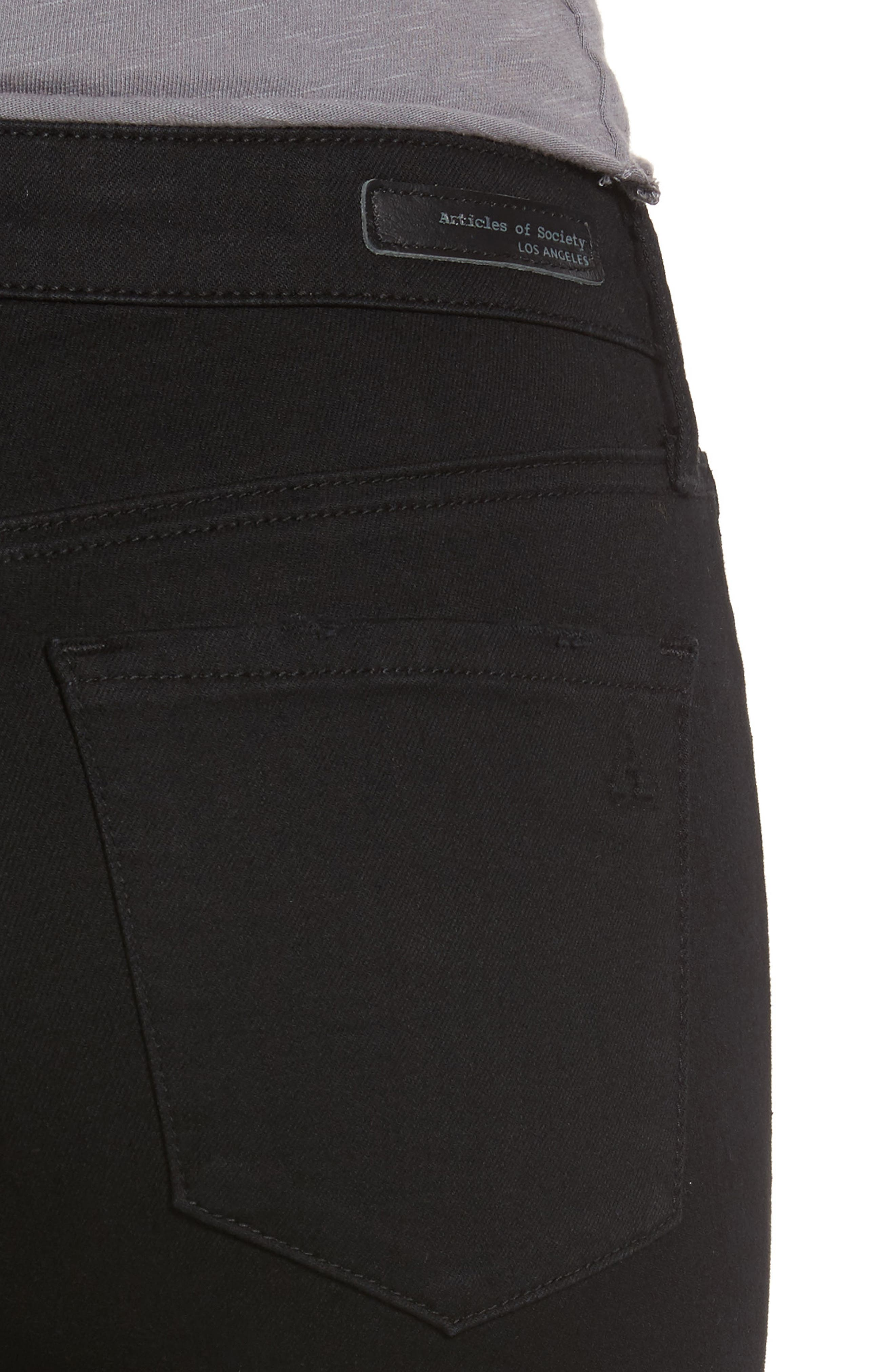 Sarah Skinny Jeans,                             Alternate thumbnail 4, color,                             001