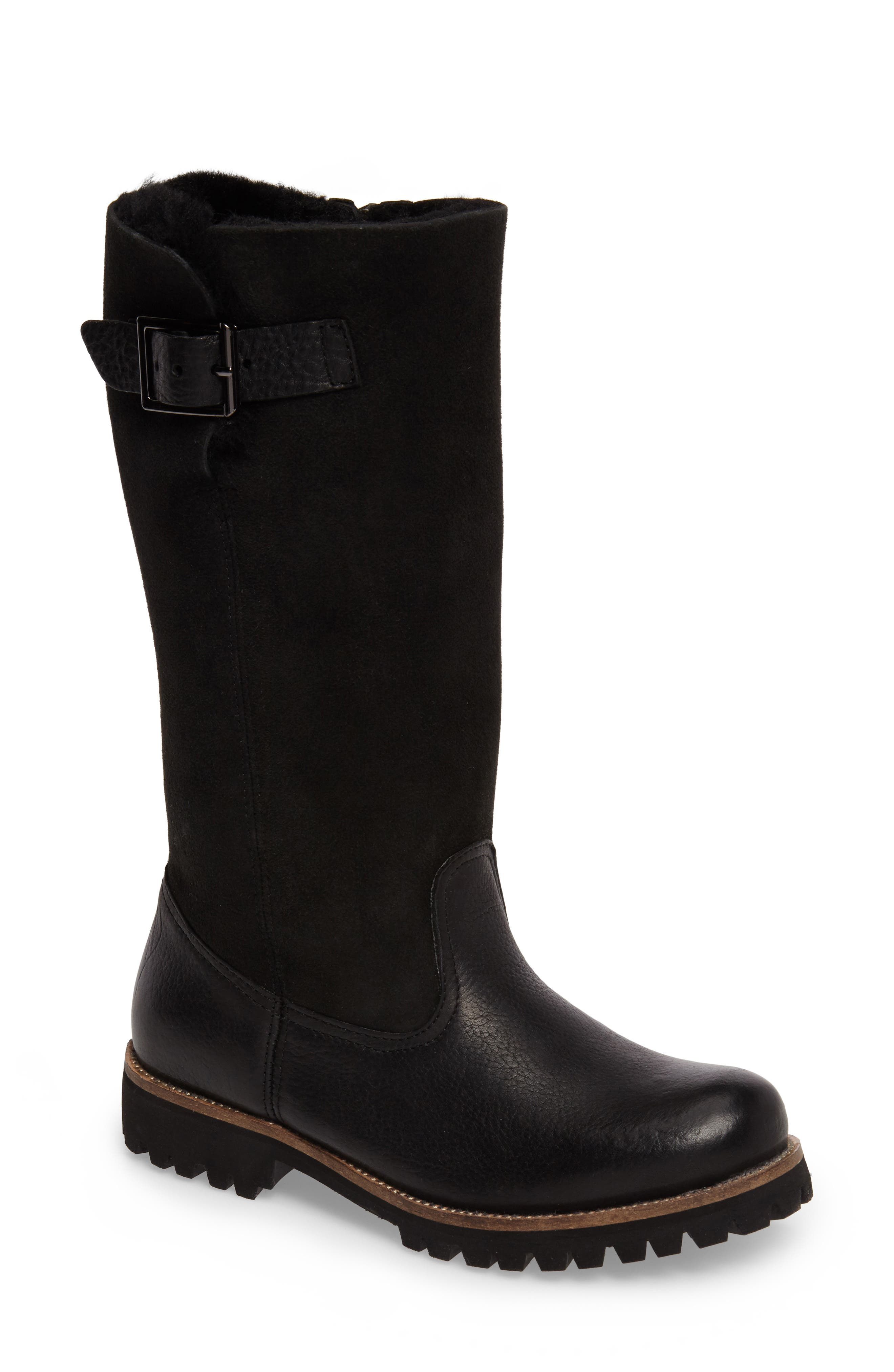 OL04 Tall Boot,                         Main,                         color, BLACK SUEDE