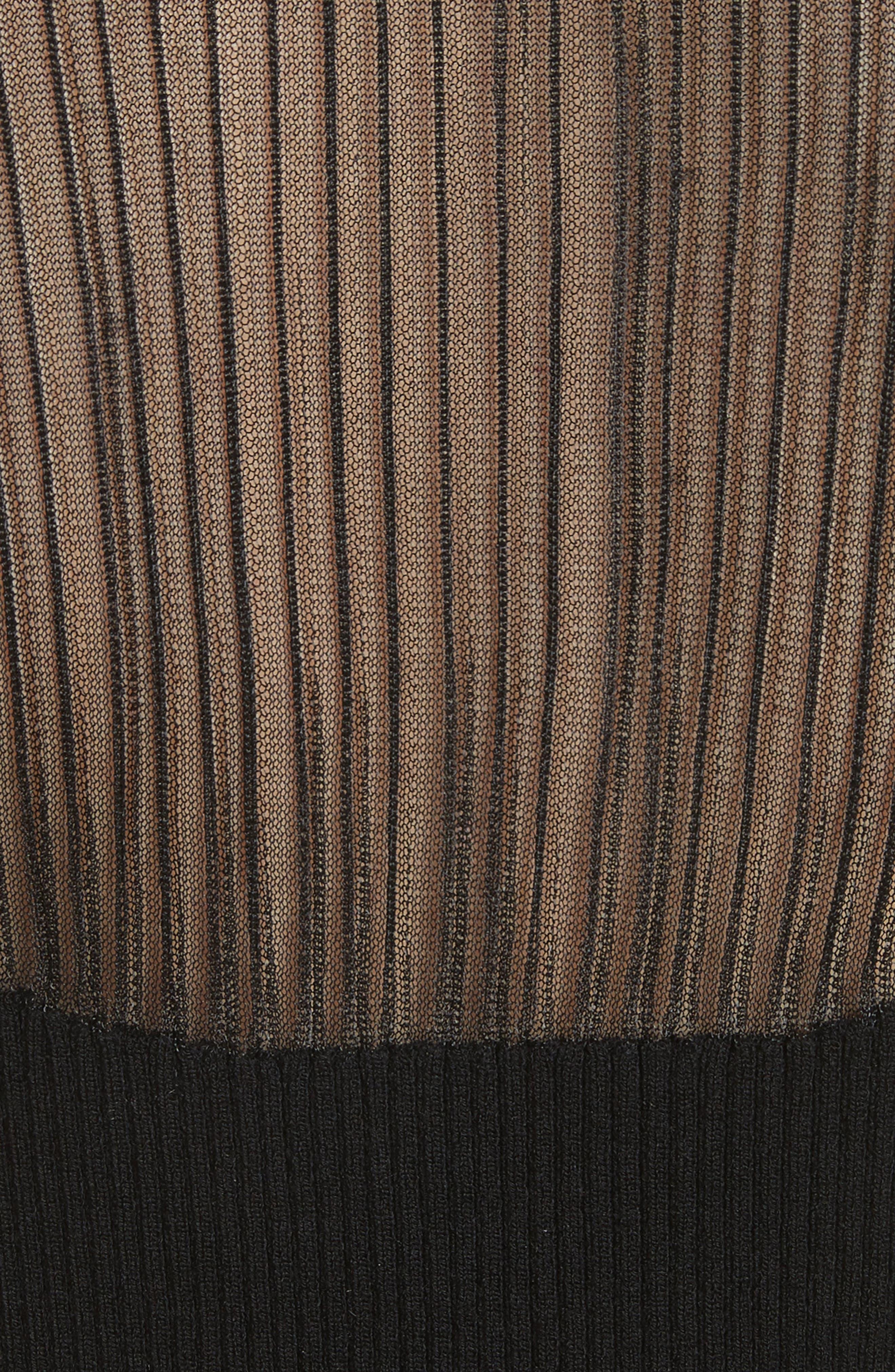 Jasmine Sheer Panel Body-Con Dress,                             Alternate thumbnail 5, color,