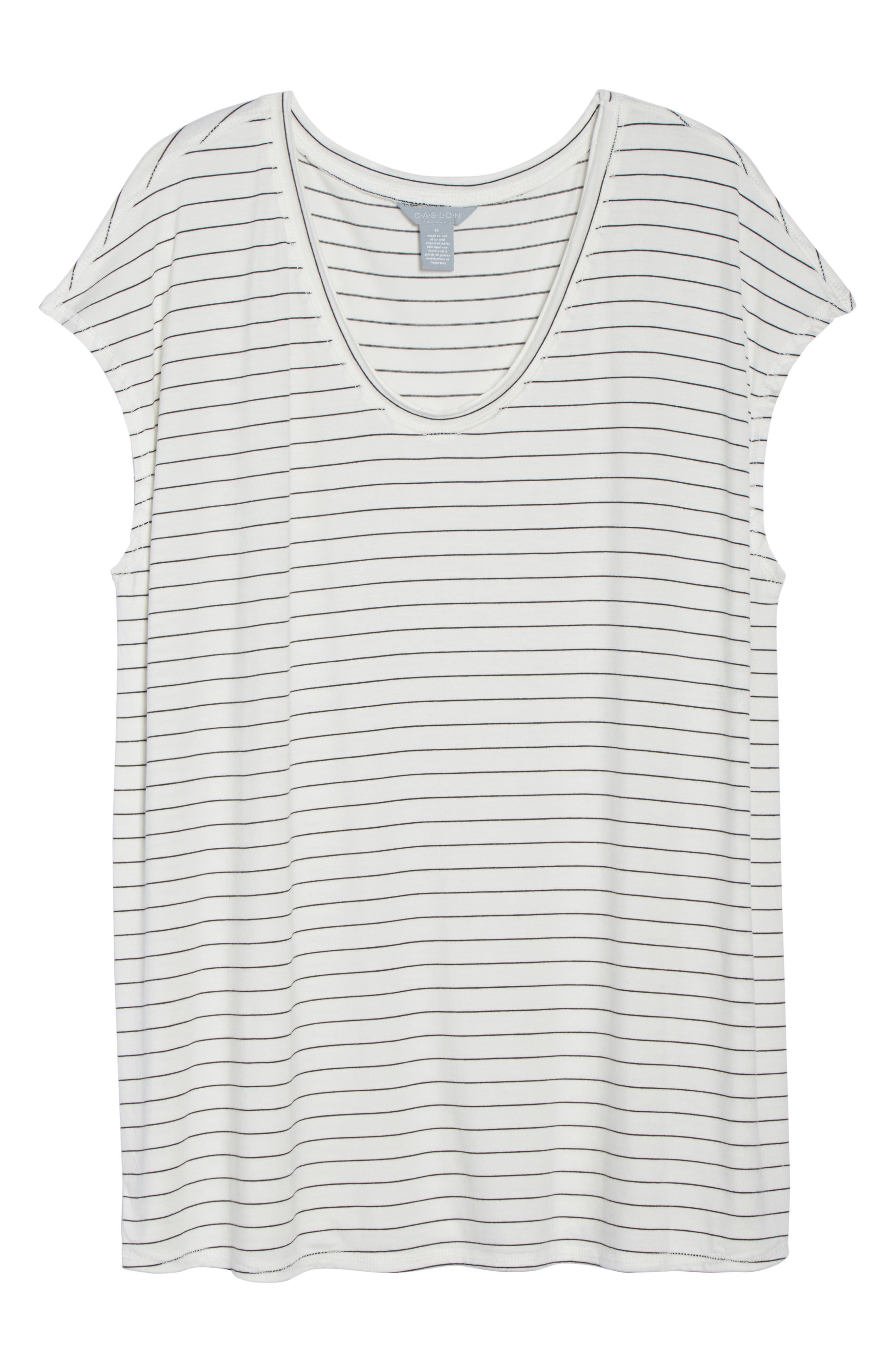 Off-Duty Stretch Knit Top,                             Alternate thumbnail 7, color,                             001