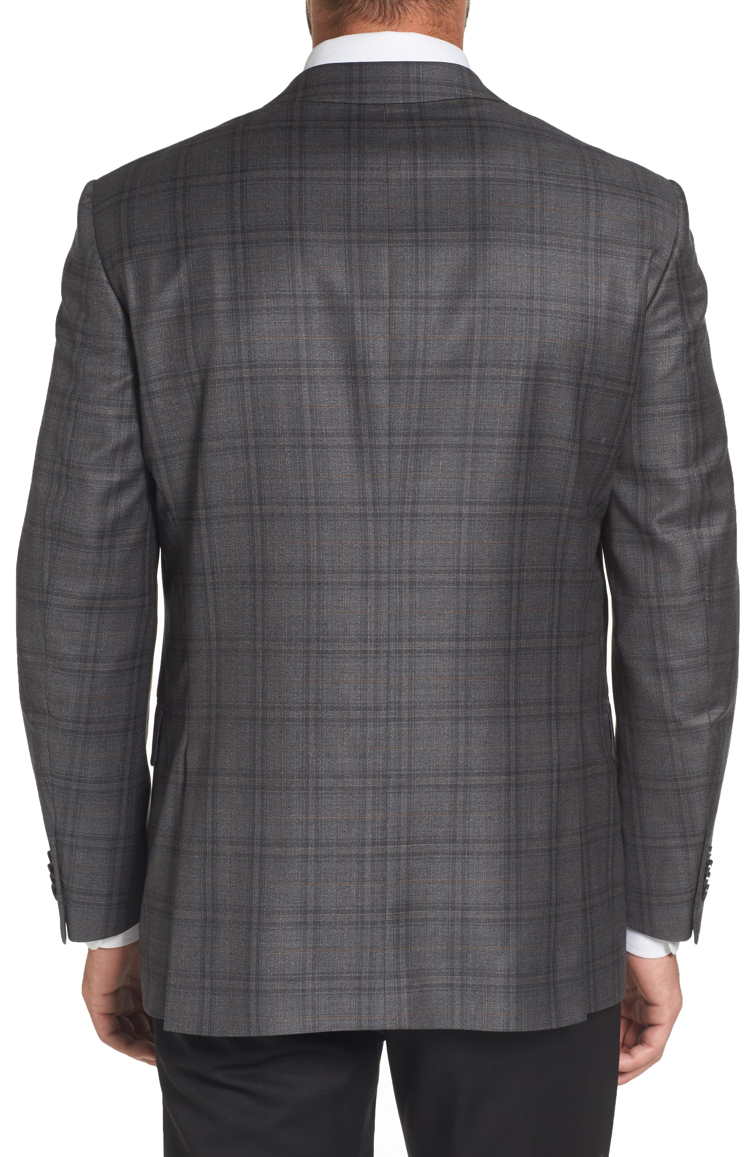 Flynn Classic Fit Plaid Wool Sport Coat,                             Alternate thumbnail 2, color,                             020