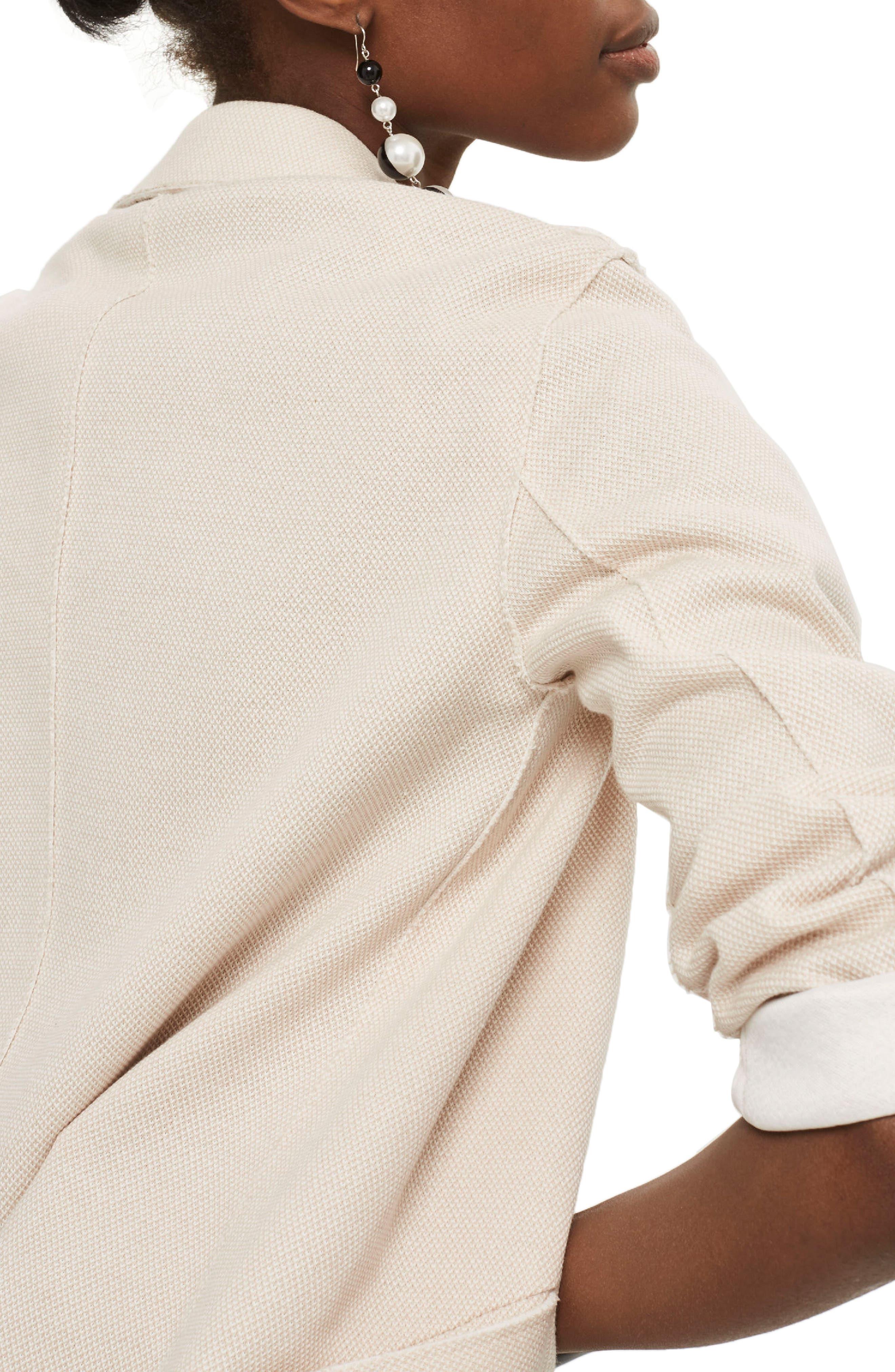 Boyfriend Jersey Jacket,                             Alternate thumbnail 2, color,