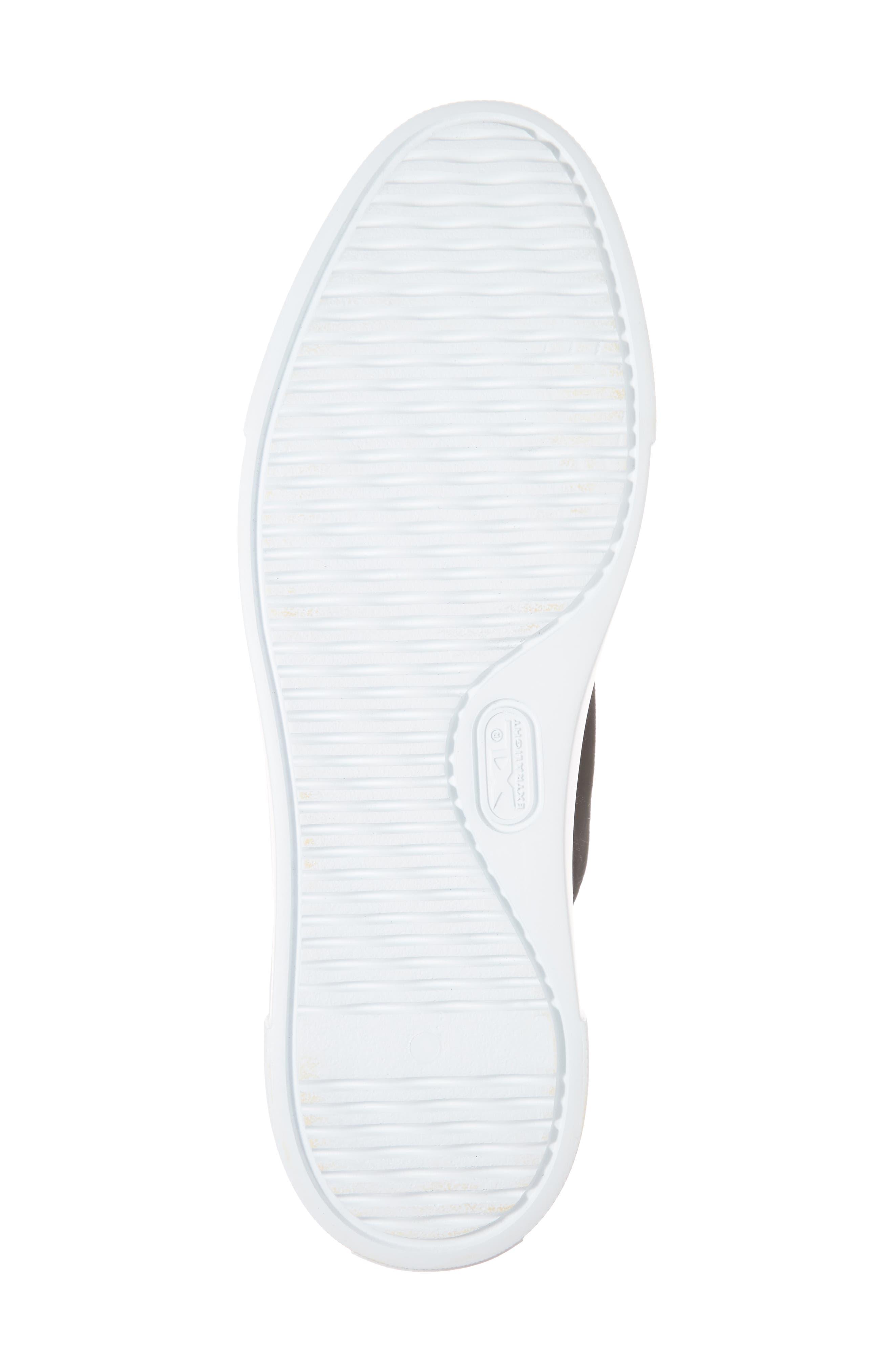 Cap Toe Platform Sneaker,                             Alternate thumbnail 6, color,                             001