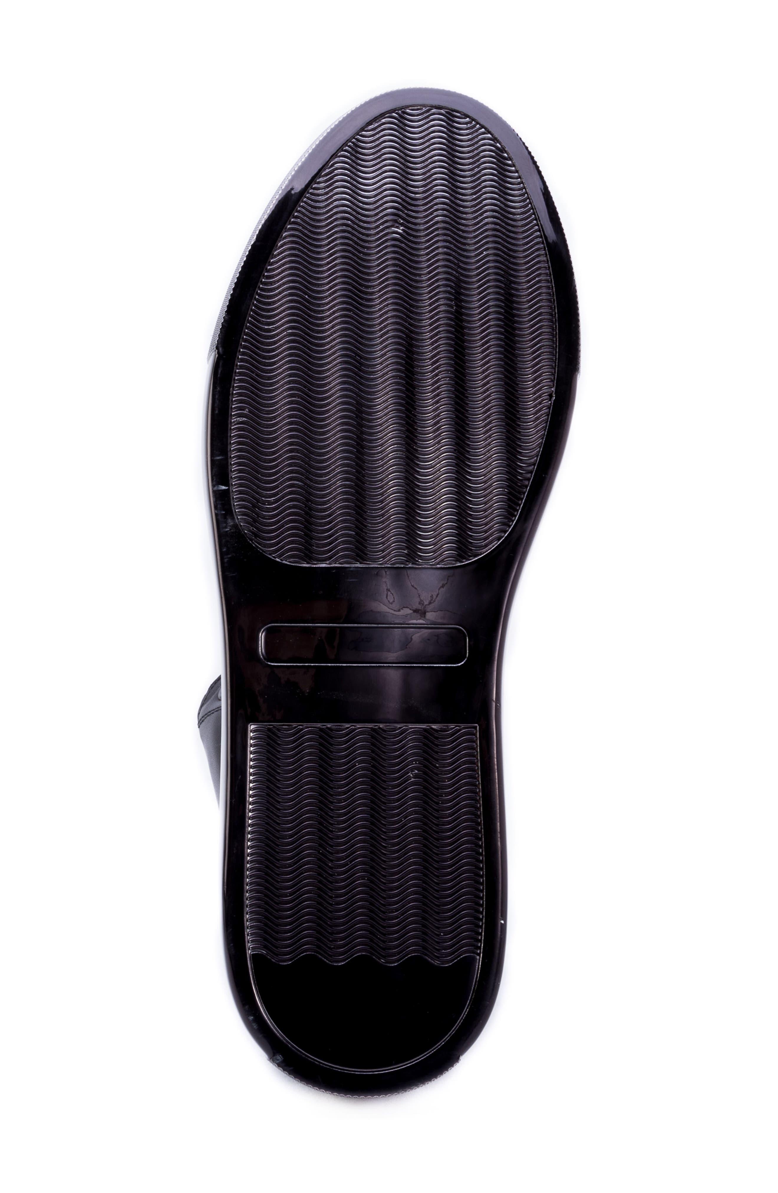 Crosby Sneaker,                             Alternate thumbnail 6, color,                             BLACK LEATHER