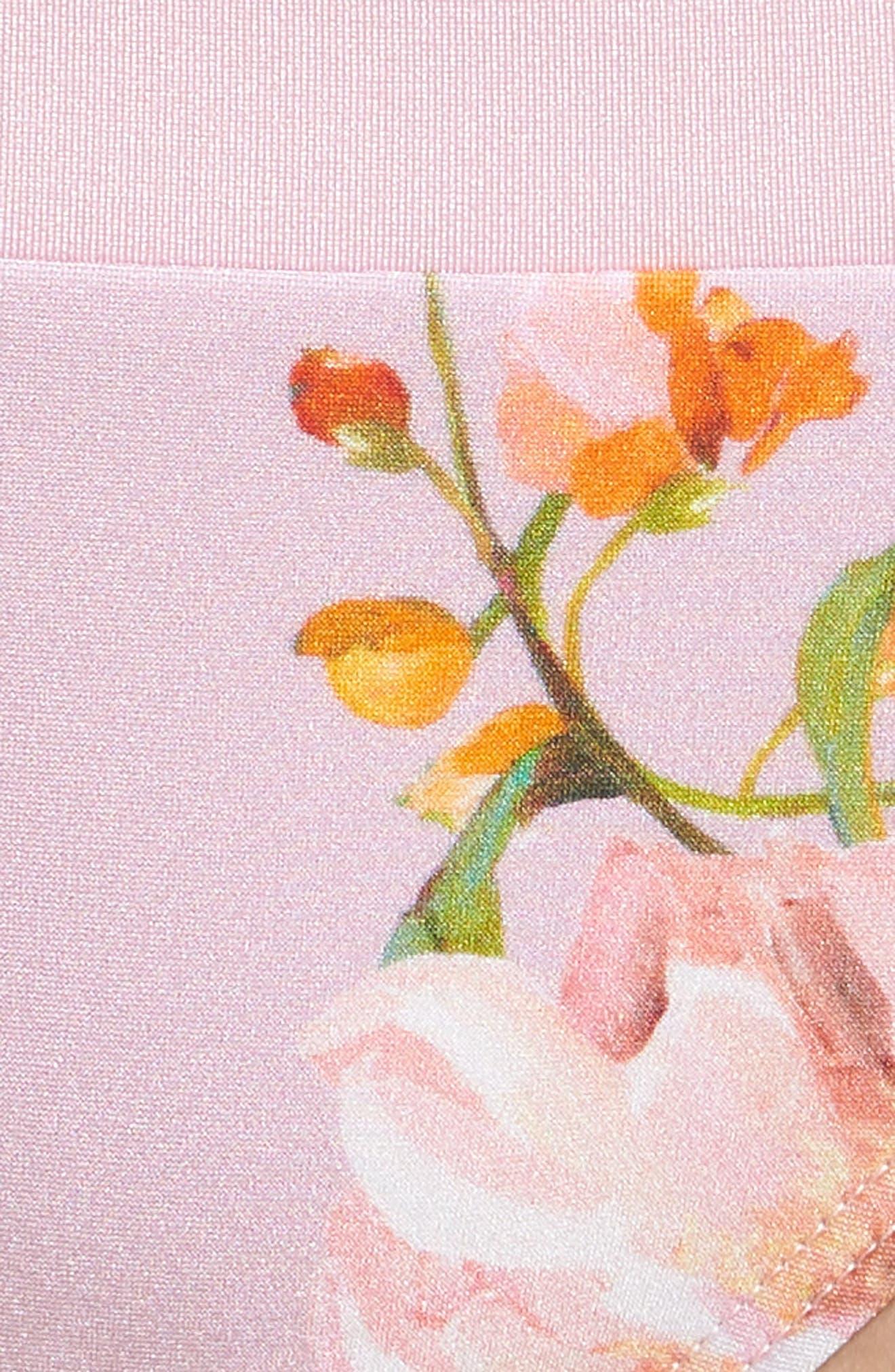 Serenity Floral Bikini Bottoms,                             Alternate thumbnail 5, color,                             PALE PINK