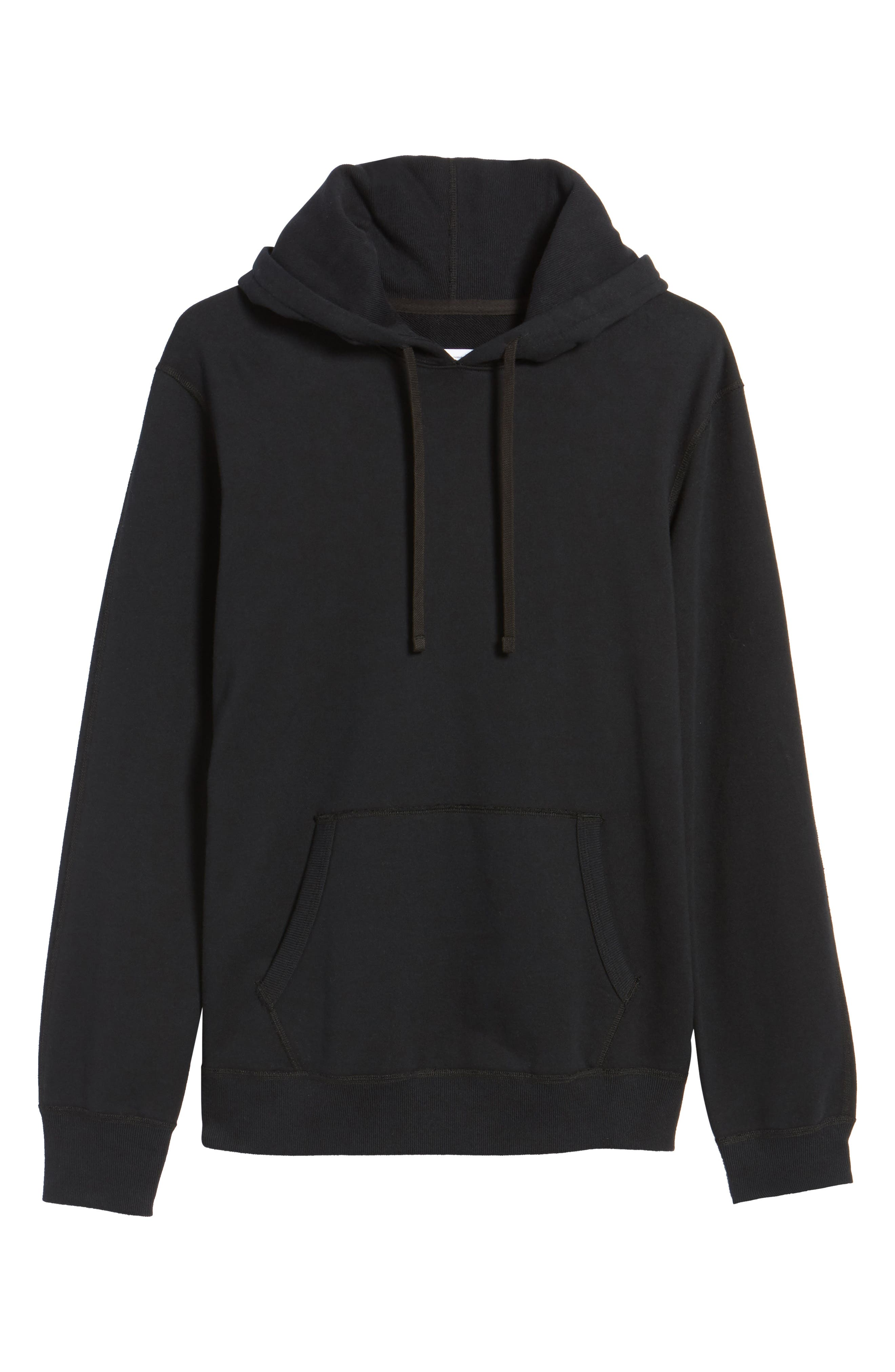French Terry Hoodie,                             Alternate thumbnail 6, color,                             001