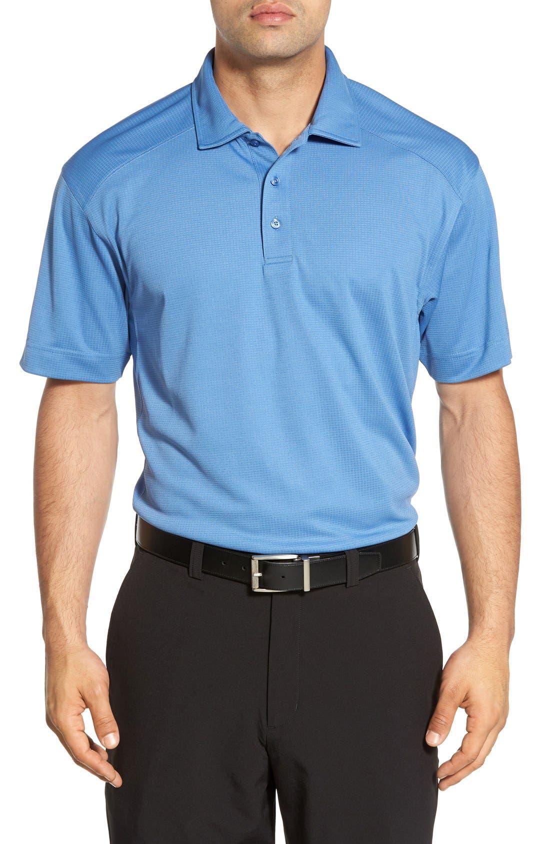 'Genre' DryTec Moisture Wicking Polo,                             Main thumbnail 1, color,                             SEA BLUE
