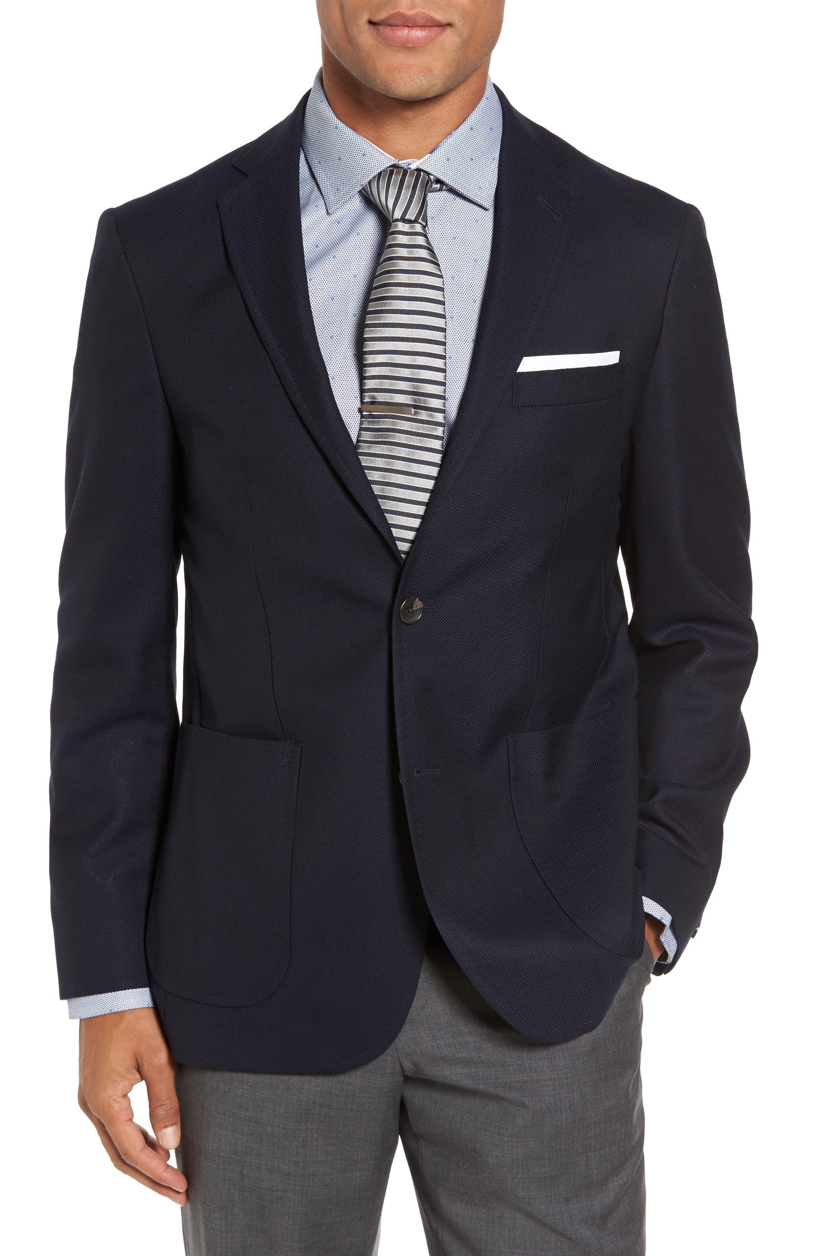 Vantage Trim Fit Wool Blazer,                         Main,                         color,