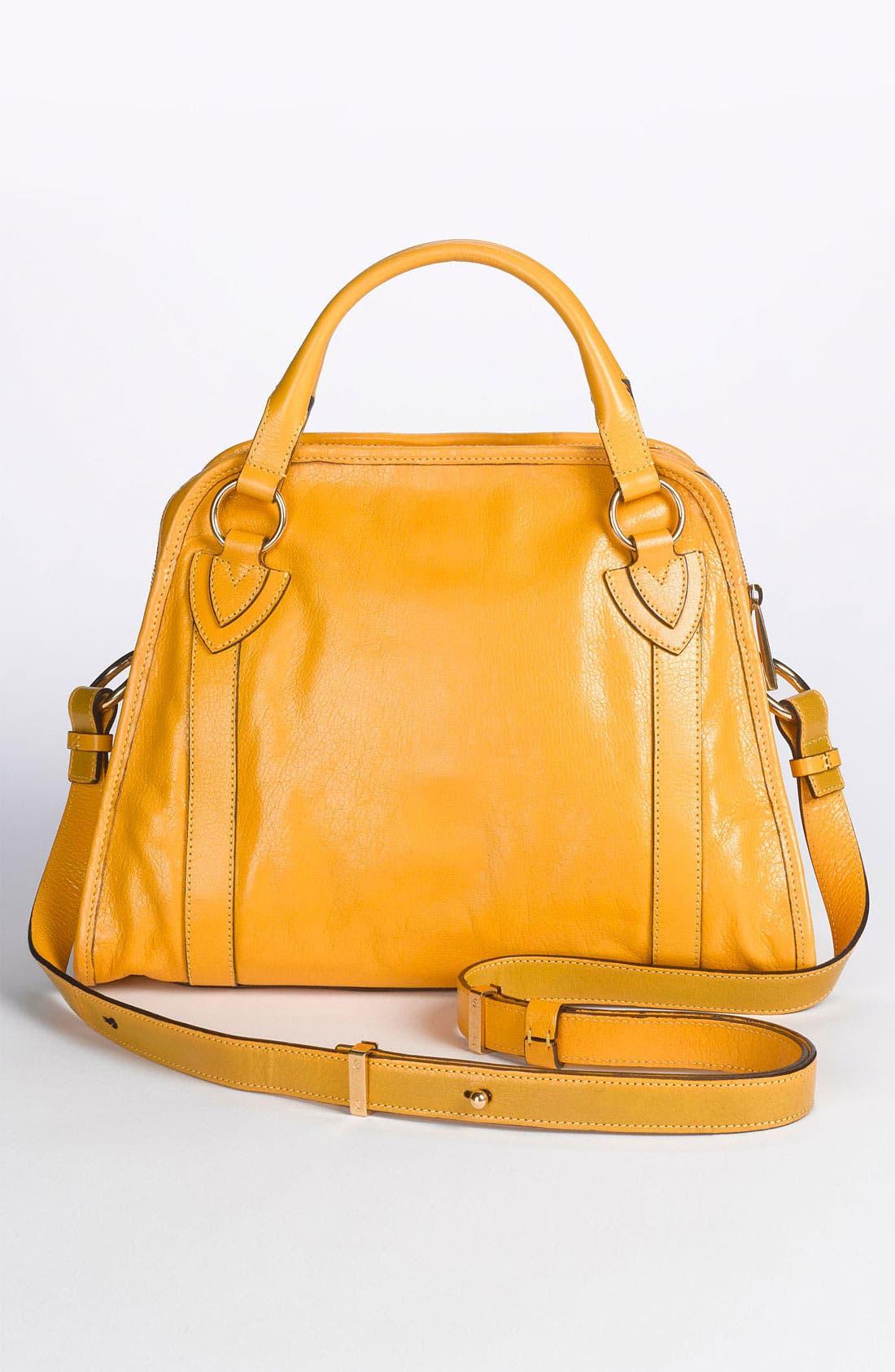 'Classic Wellington' Leather Satchel,                             Alternate thumbnail 23, color,