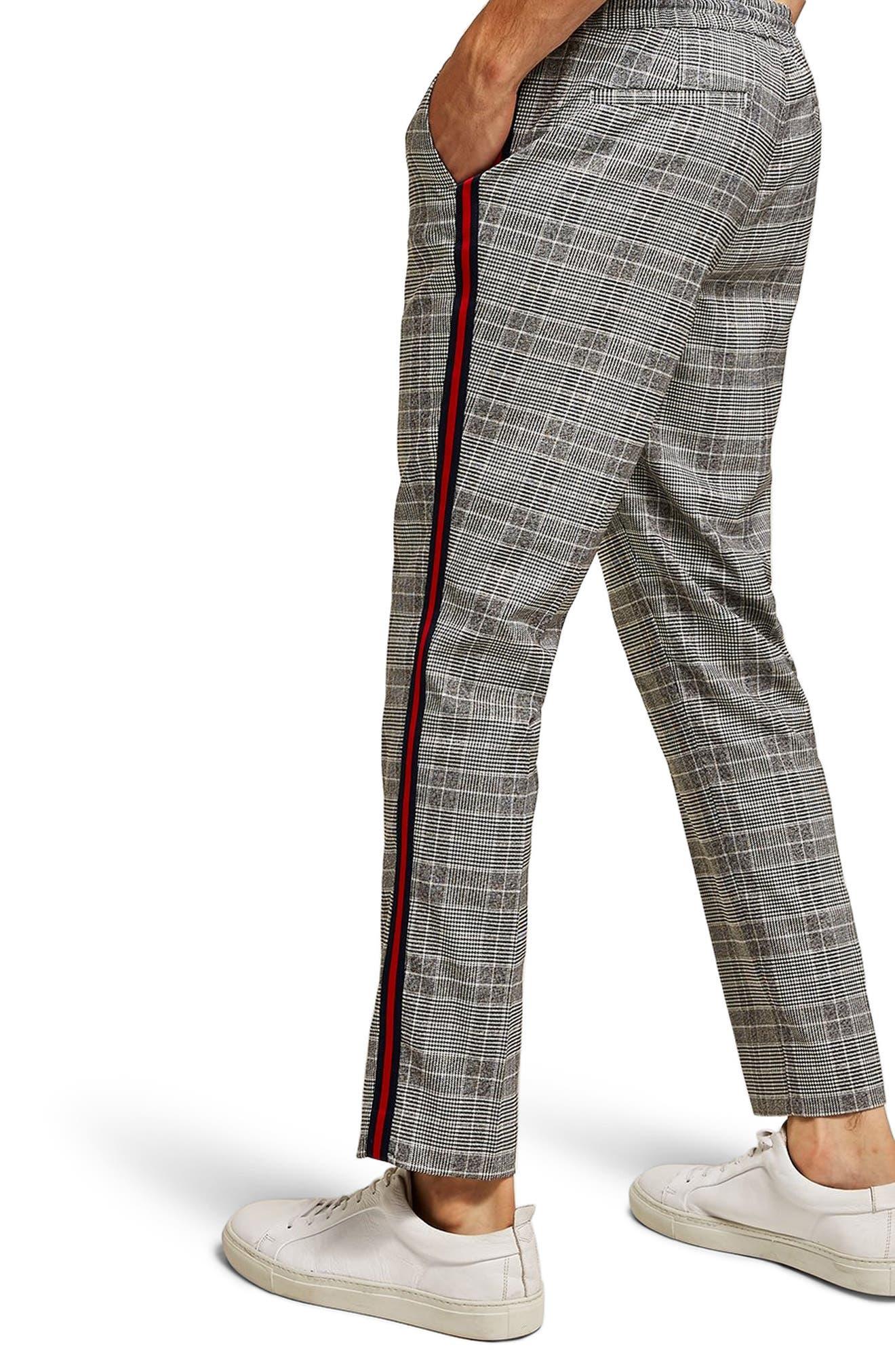 Check Side Stripe Slim Fit Joggers,                             Alternate thumbnail 2, color,                             020