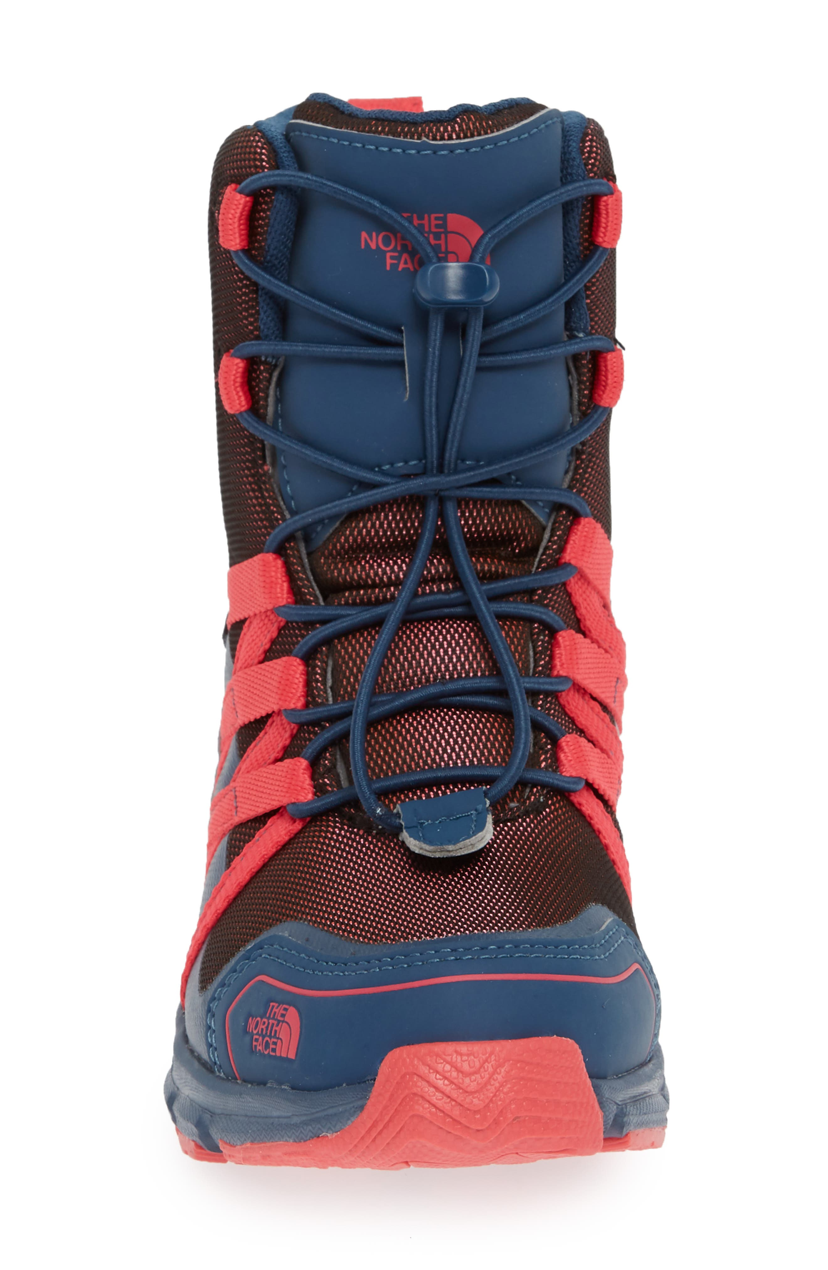 Junior Winter Sneaker Waterproof Insulated Boot,                             Alternate thumbnail 4, color,                             BLUE WING TEAL/ ATOMIC PINK