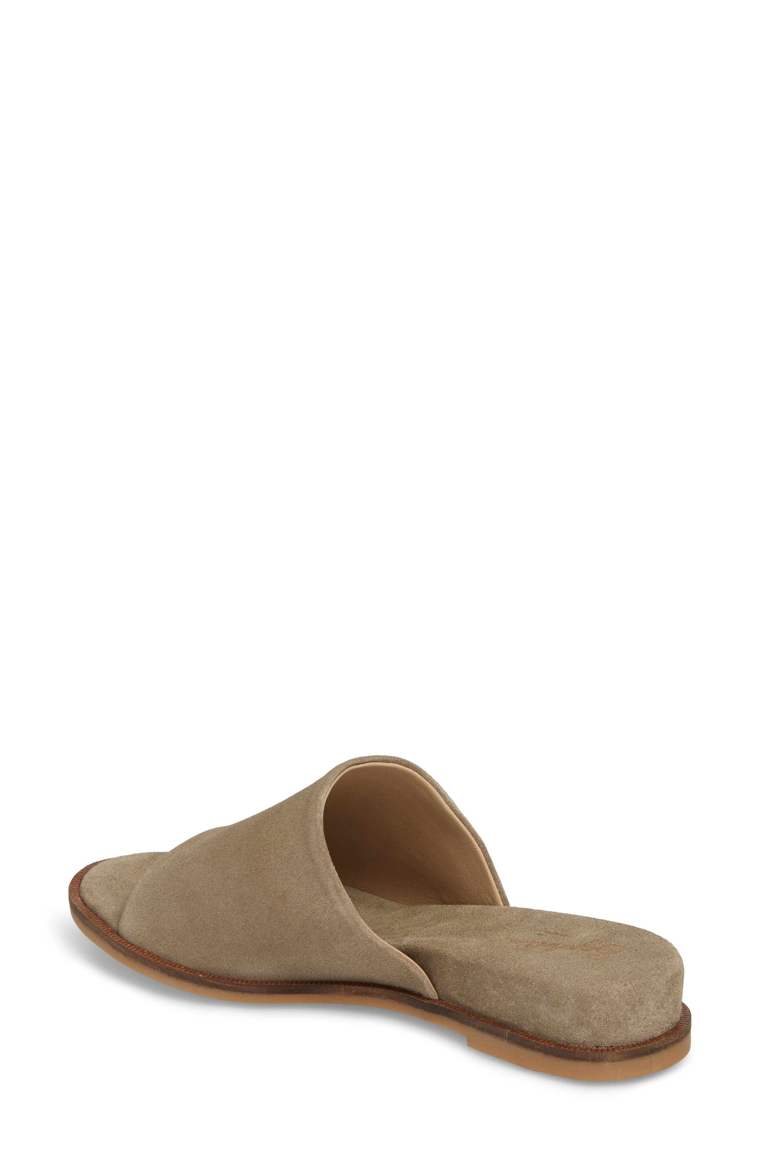 Relaxing Wedge Slide Sandal,                             Alternate thumbnail 2, color,                             TAUPE LEATHER